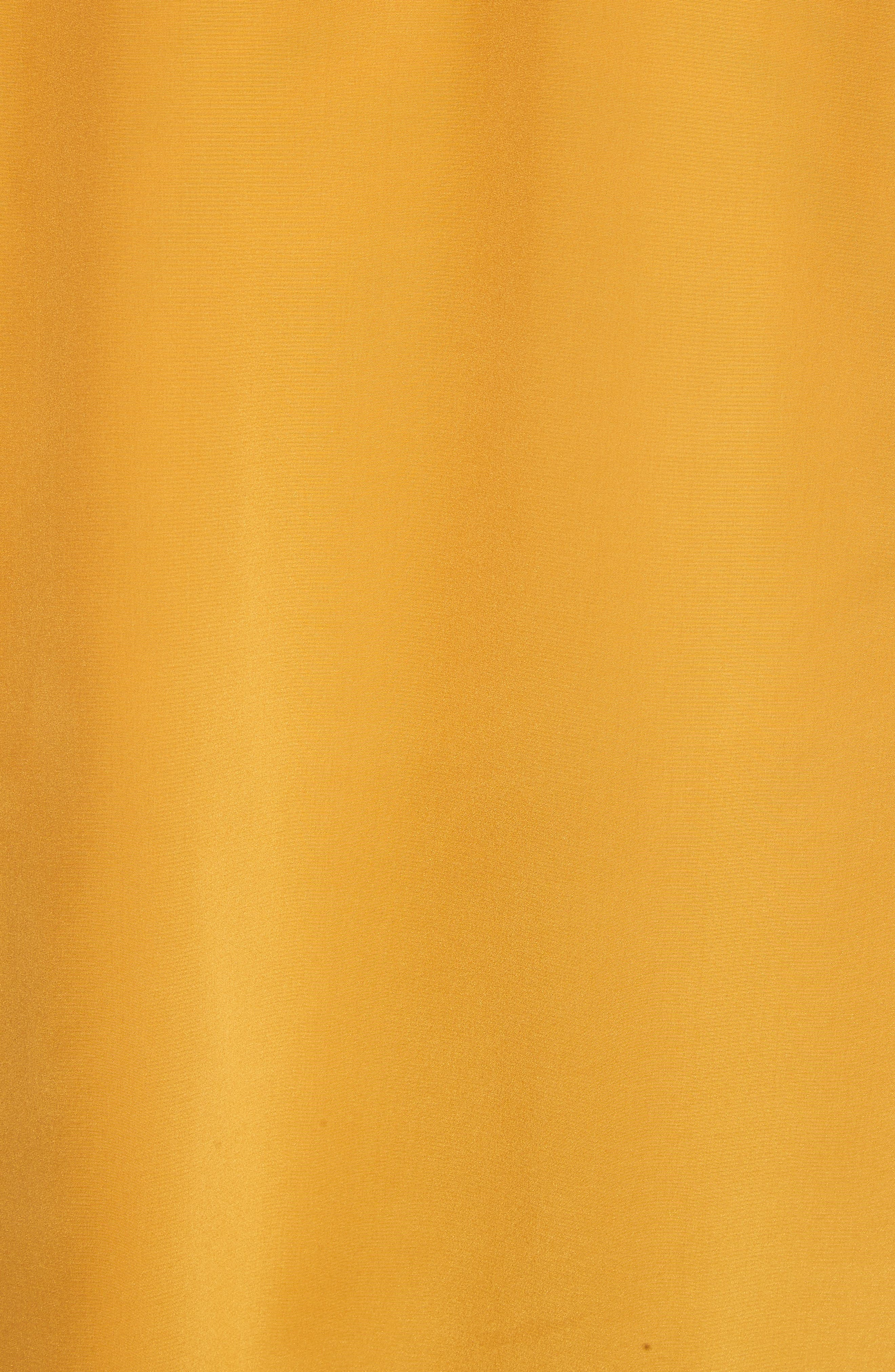 Colorblock Silk Tunic,                             Alternate thumbnail 5, color,                             Golden Age