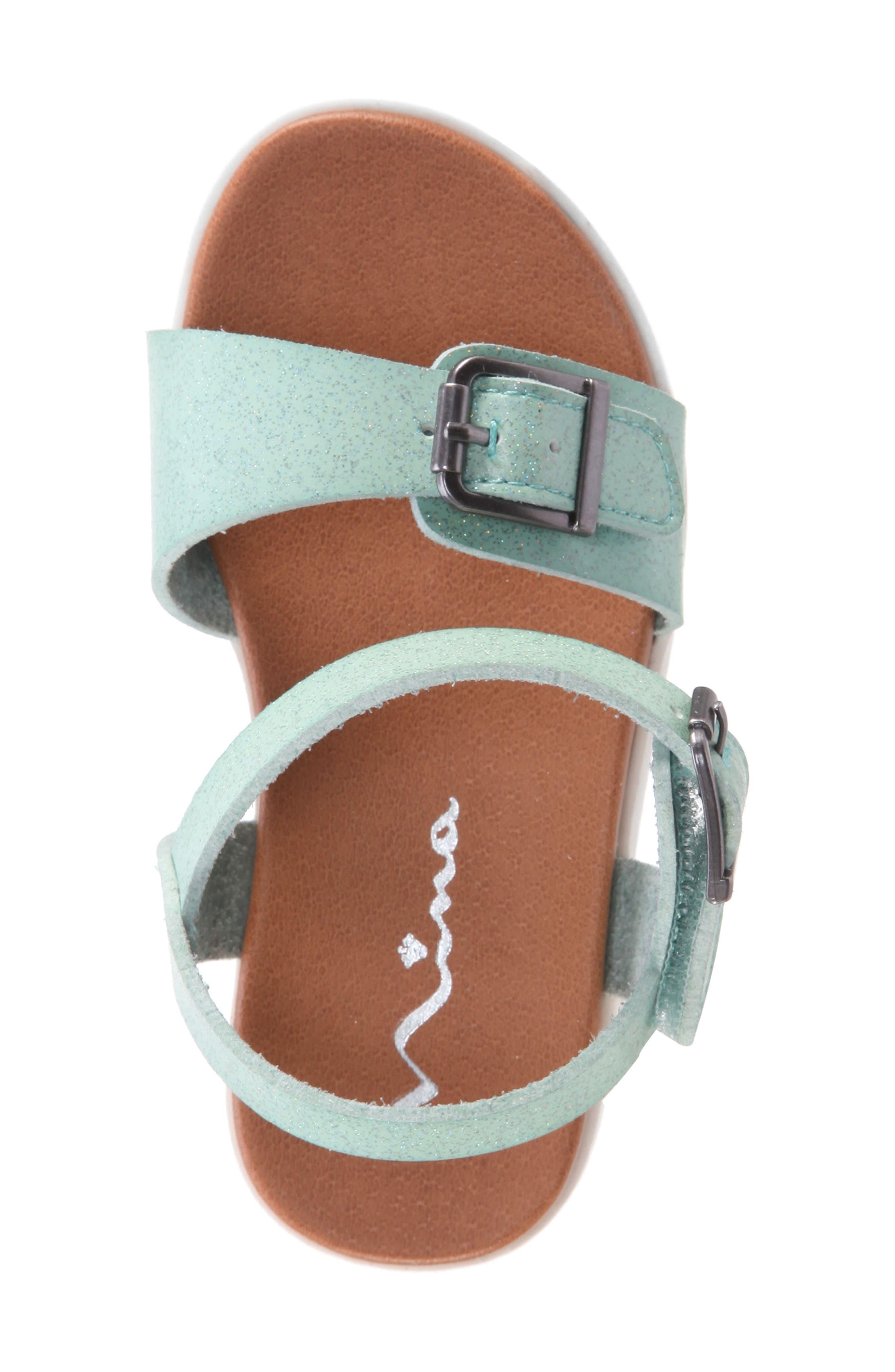 Jacklin3 Quarter Strap Sandal,                             Alternate thumbnail 5, color,                             Mint Dip Dye