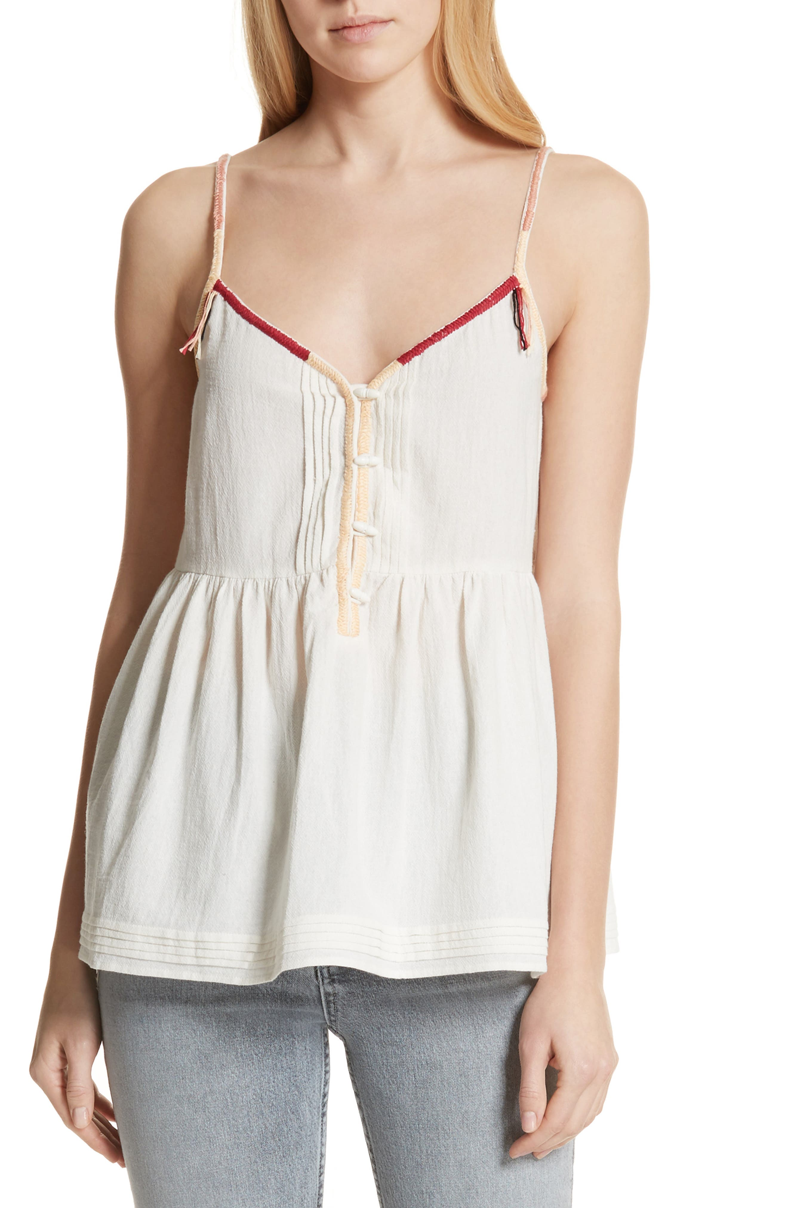 The Adobe Cotton Camisole,                             Main thumbnail 1, color,                             Off White