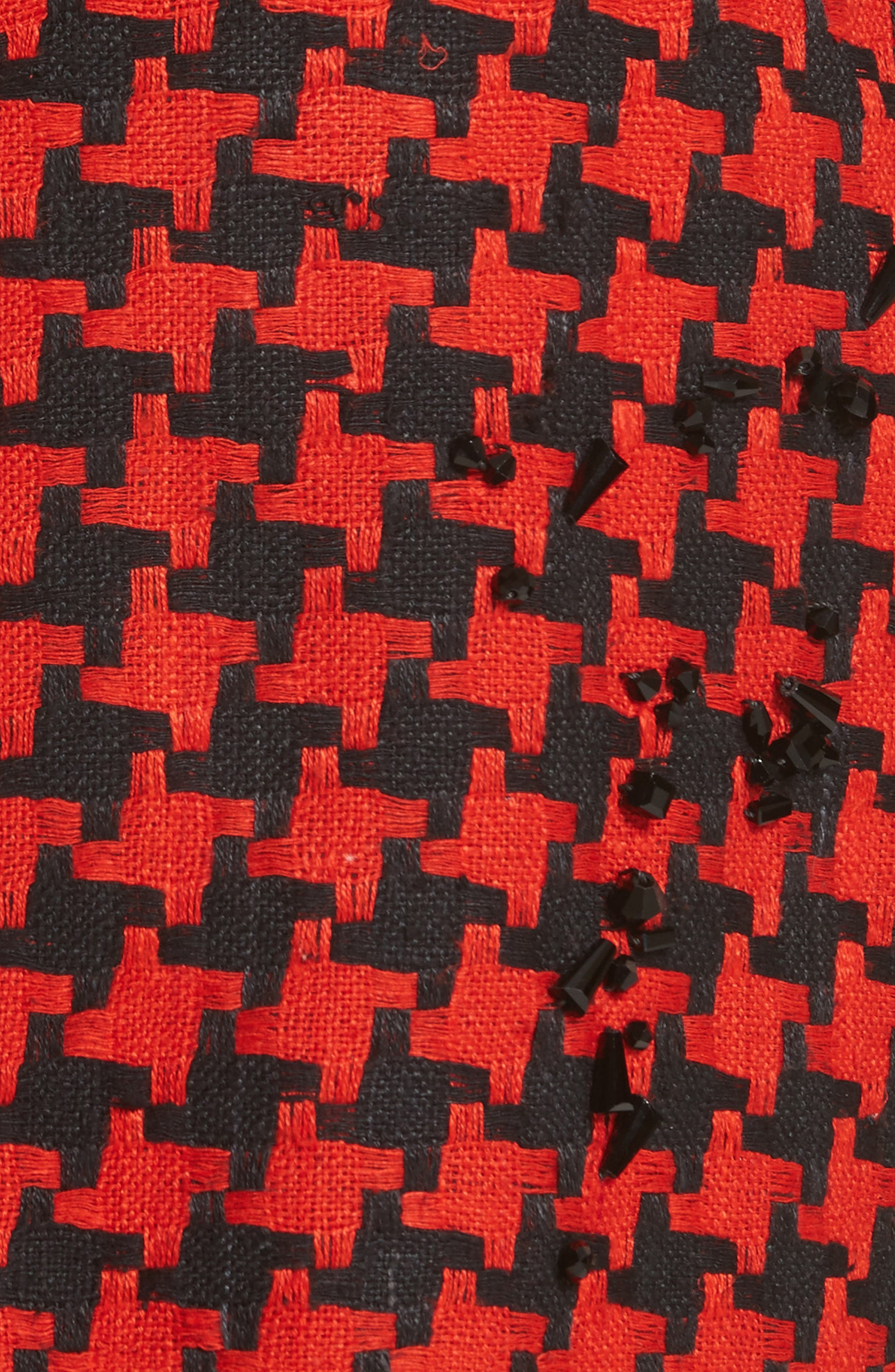 Prime Minister Houndstooth Wool Jacket,                             Alternate thumbnail 6, color,                             Red