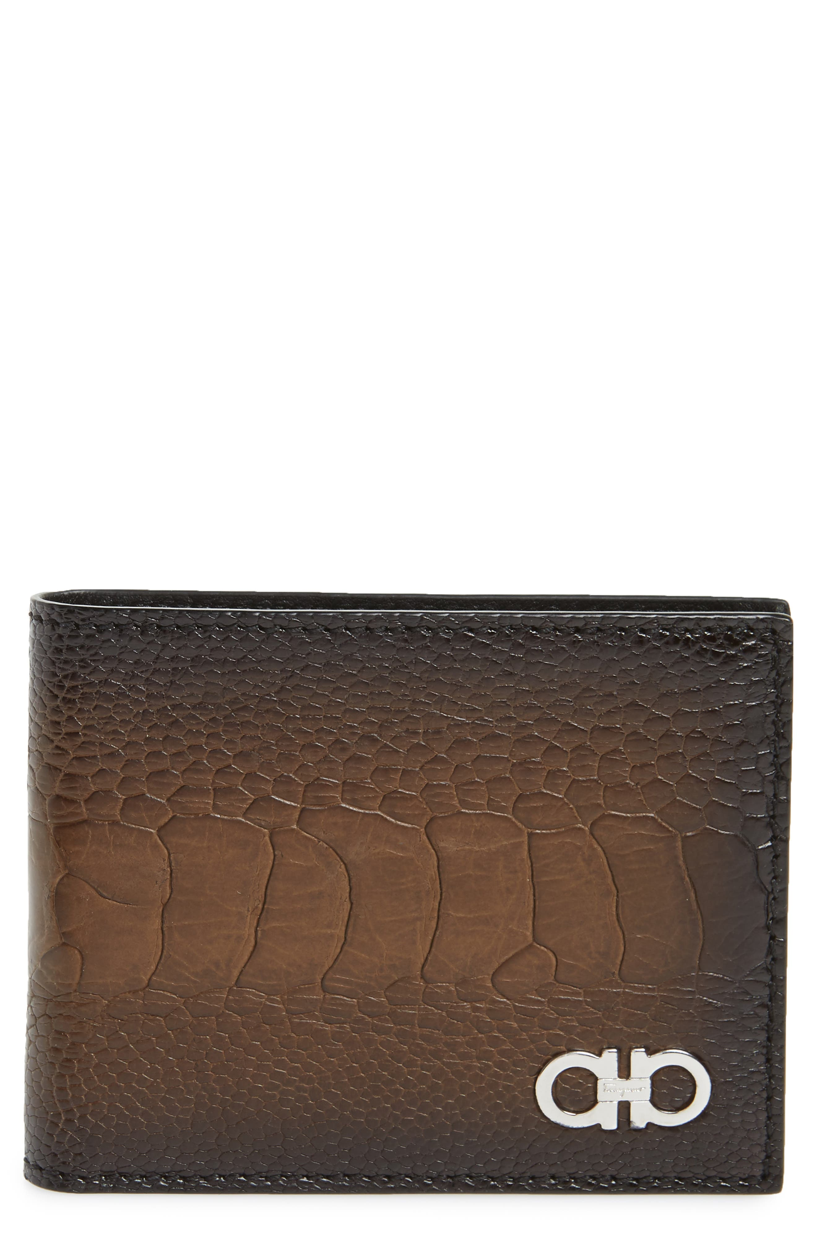 Leather Wallet,                         Main,                         color, Sepia