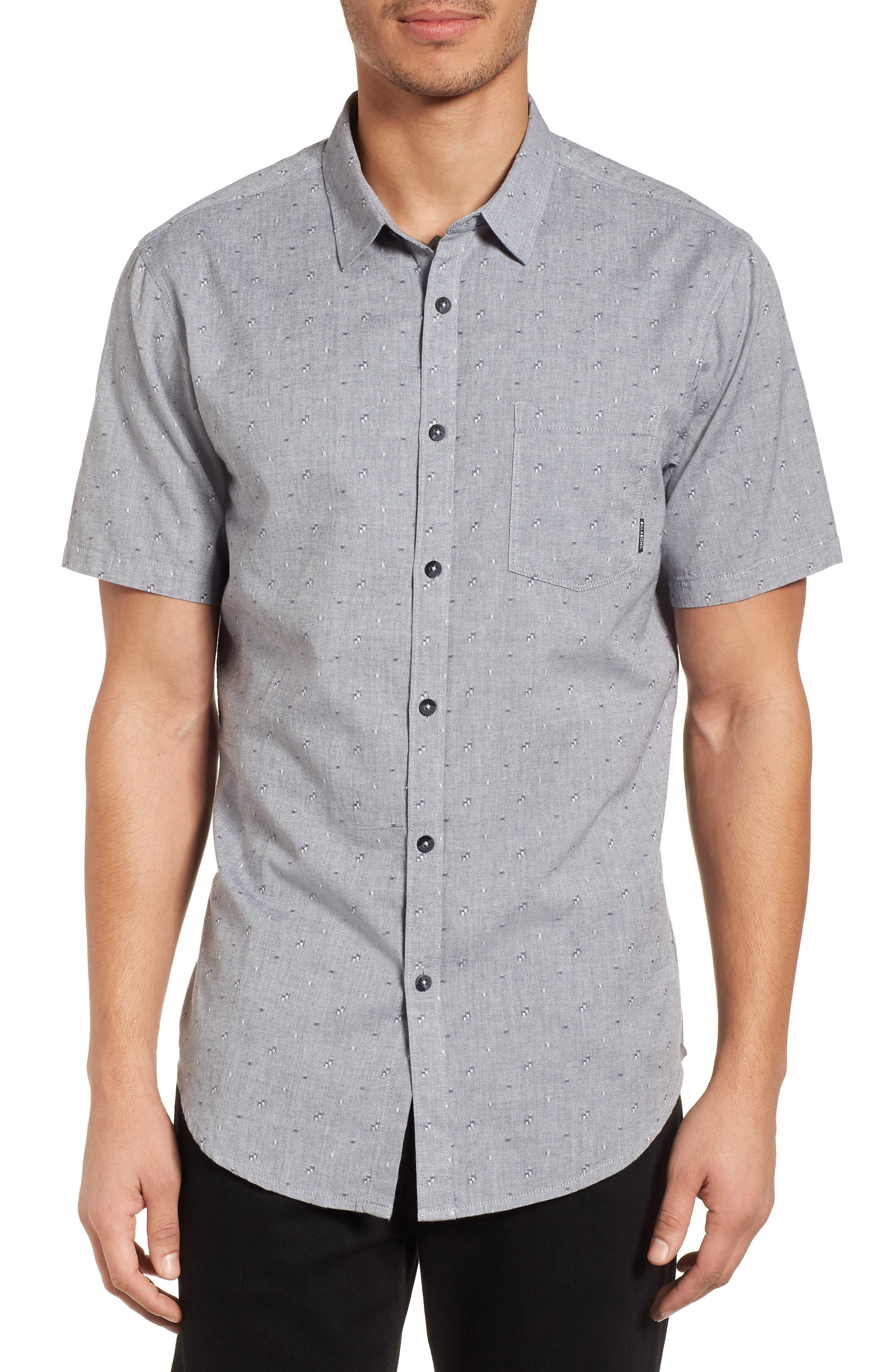 Sundays Jacquard Woven Shirt,                         Main,                         color, Grey