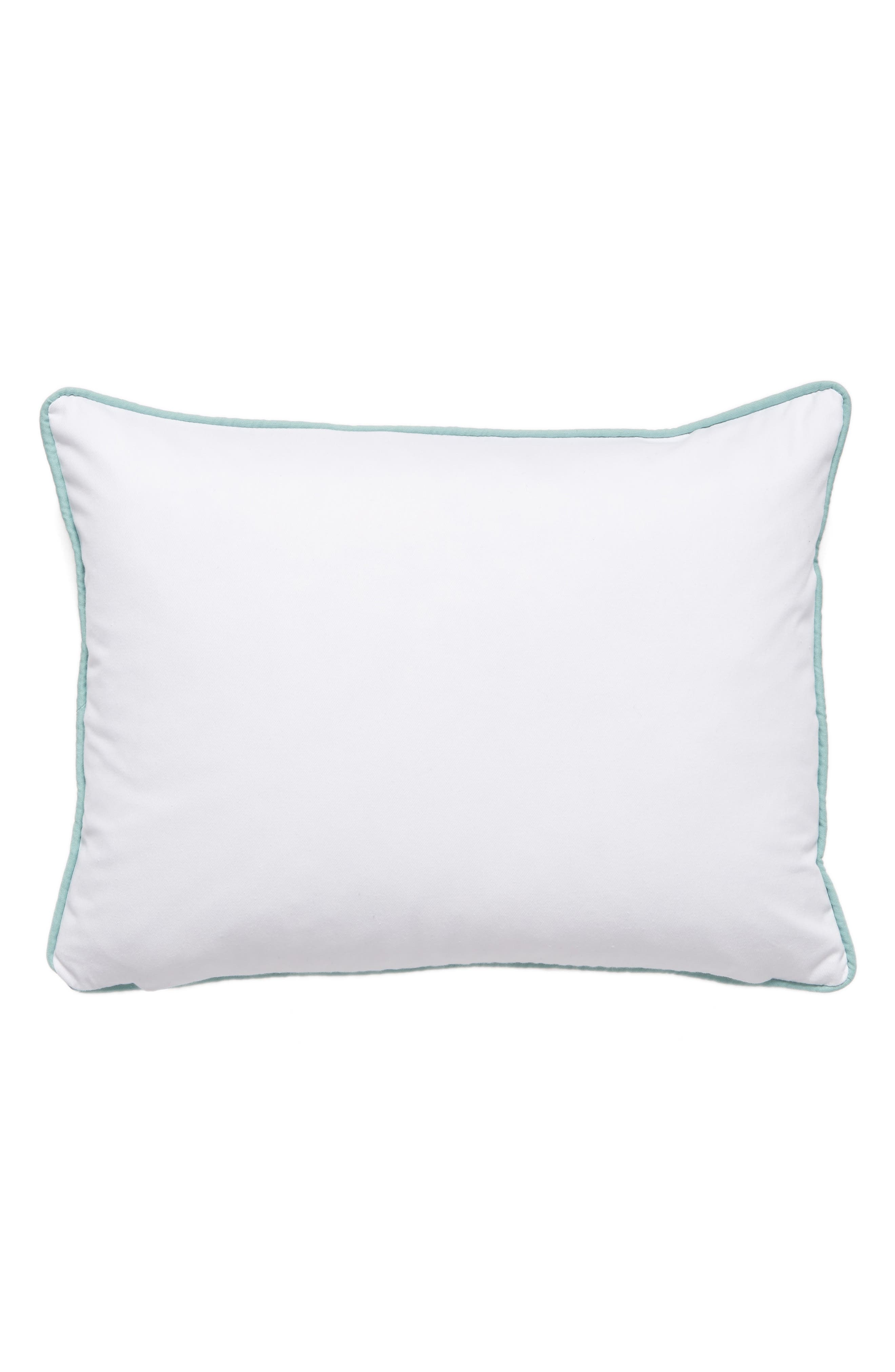 Jordan Embroidered Accent Pillow,                             Alternate thumbnail 3, color,                             Ivory