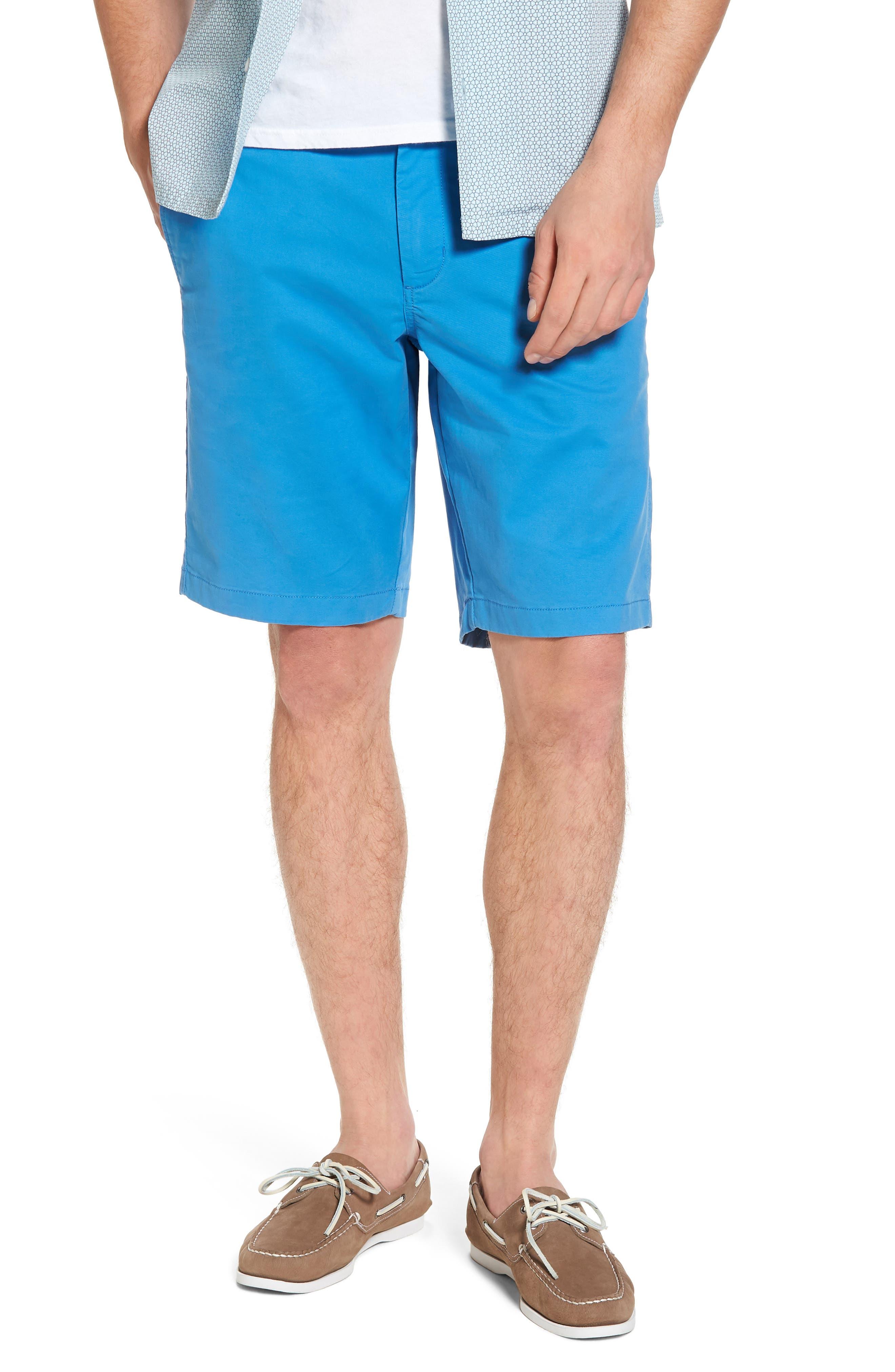 Ballard Slim Fit Stretch Chino 11-Inch Shorts,                         Main,                         color, Blue Camp
