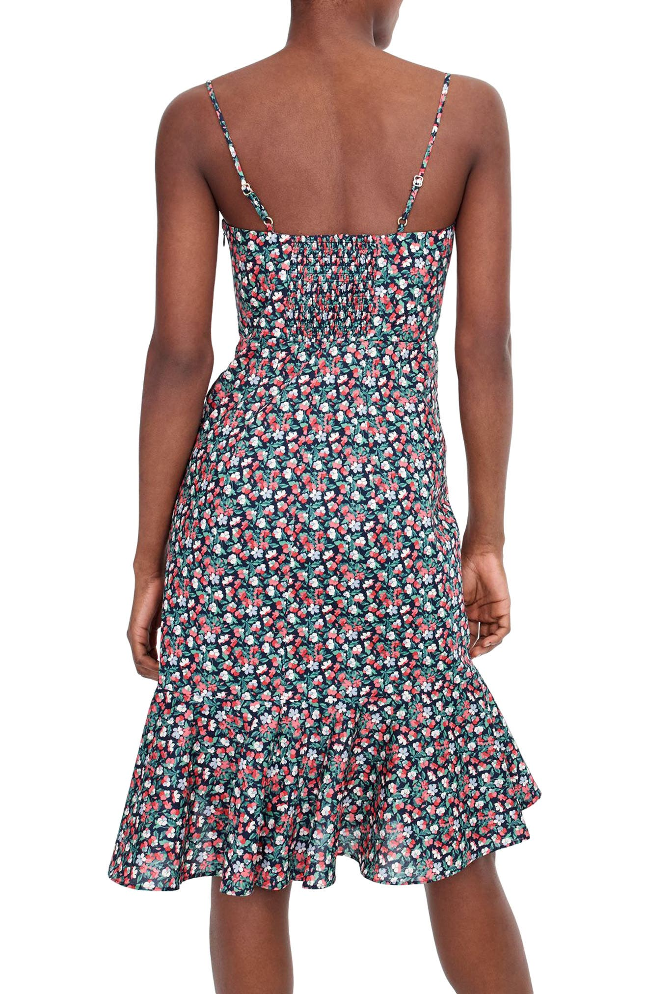 Liberty<sup>®</sup> Sarah Ruffle Dress,                             Alternate thumbnail 2, color,                             Navy Poppy