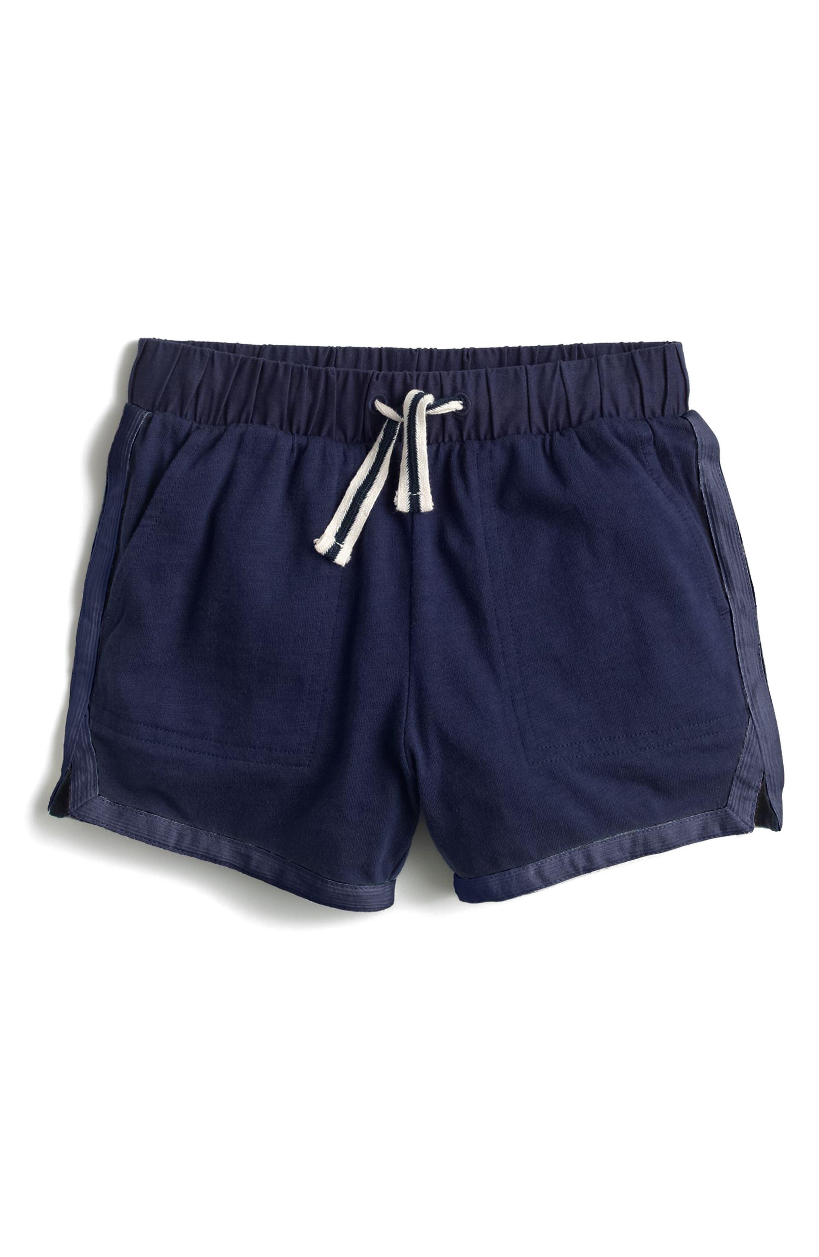 Ester Cotton Shorts,                         Main,                         color, Navy