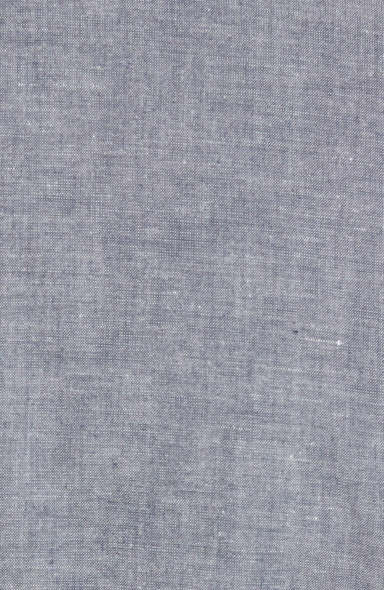 Ludlow Cotton & Linen Blazer,                             Alternate thumbnail 5, color,                             Deep Water Blue