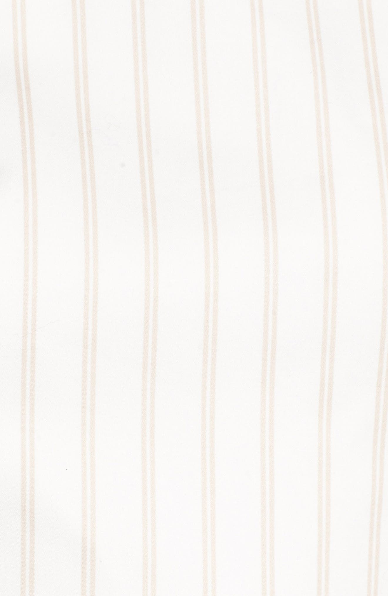 Fit & Flare Dress,                             Alternate thumbnail 5, color,                             Ivory Ashley Stripe