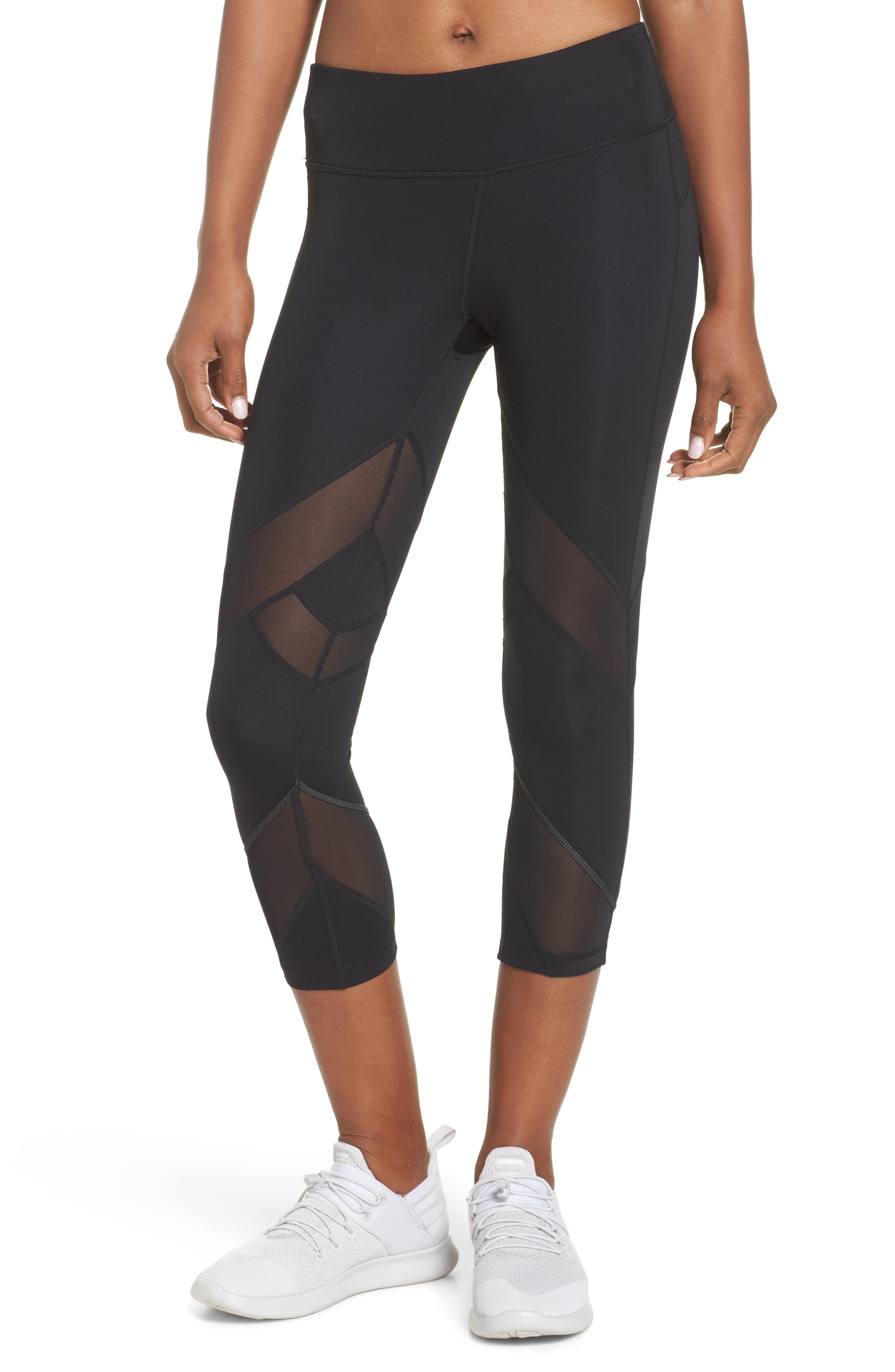 Swift II Crop Leggings,                         Main,                         color, Black