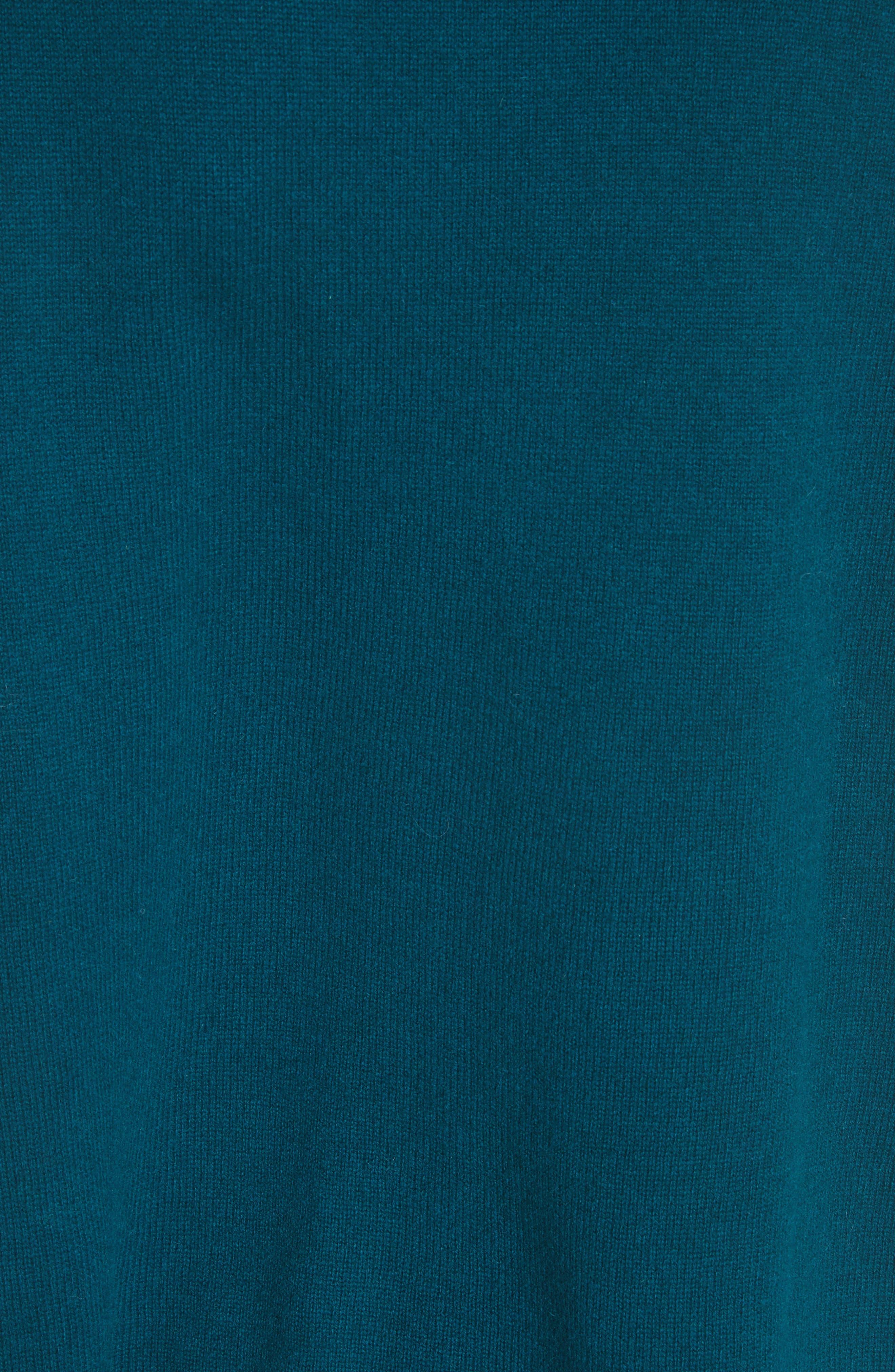 Rolled Turtleneck Cashmere Sweater,                             Alternate thumbnail 5, color,                             Vert