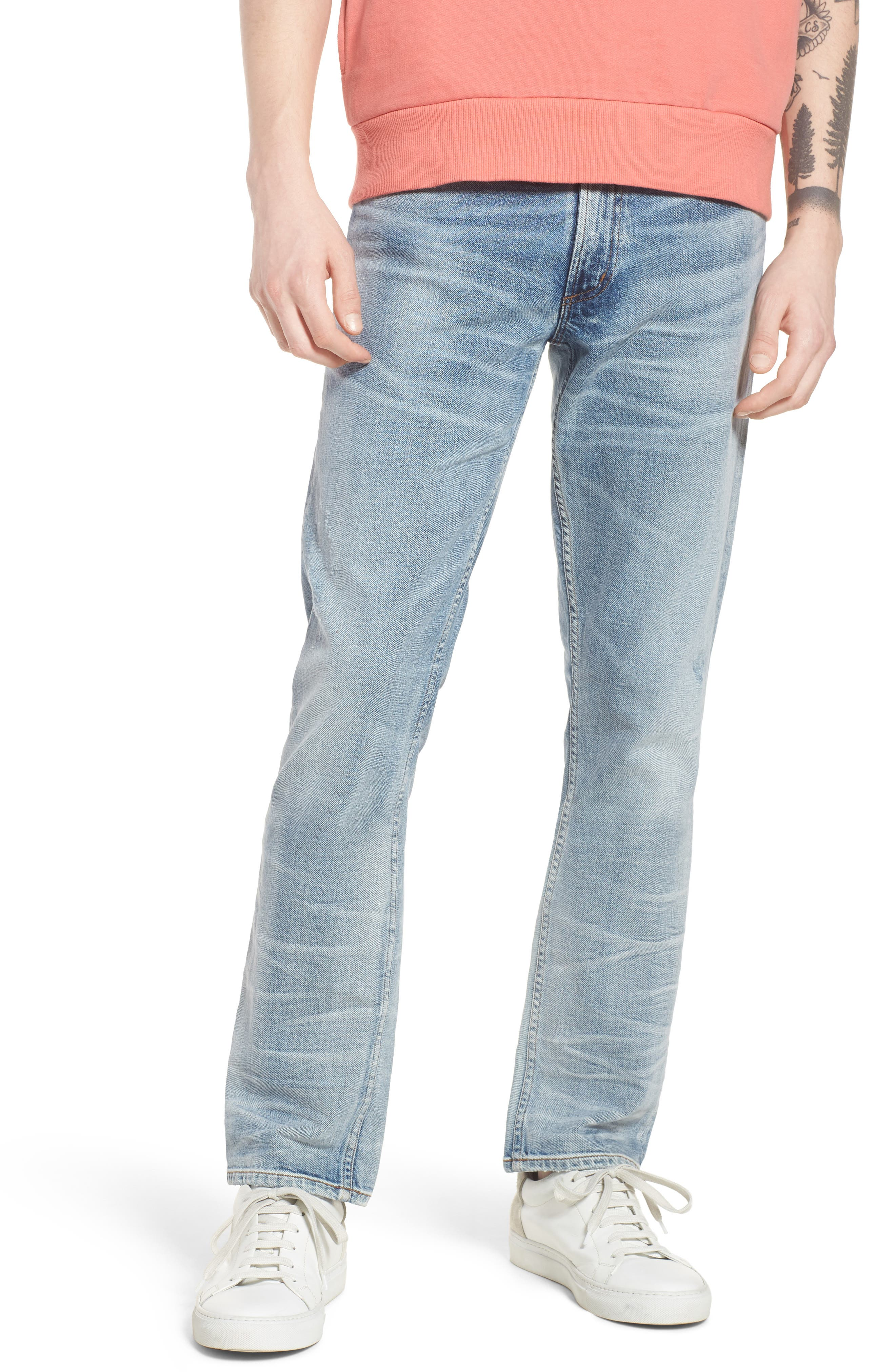 Bowery Slim Fit Jeans,                             Main thumbnail 1, color,                             Lone Pine