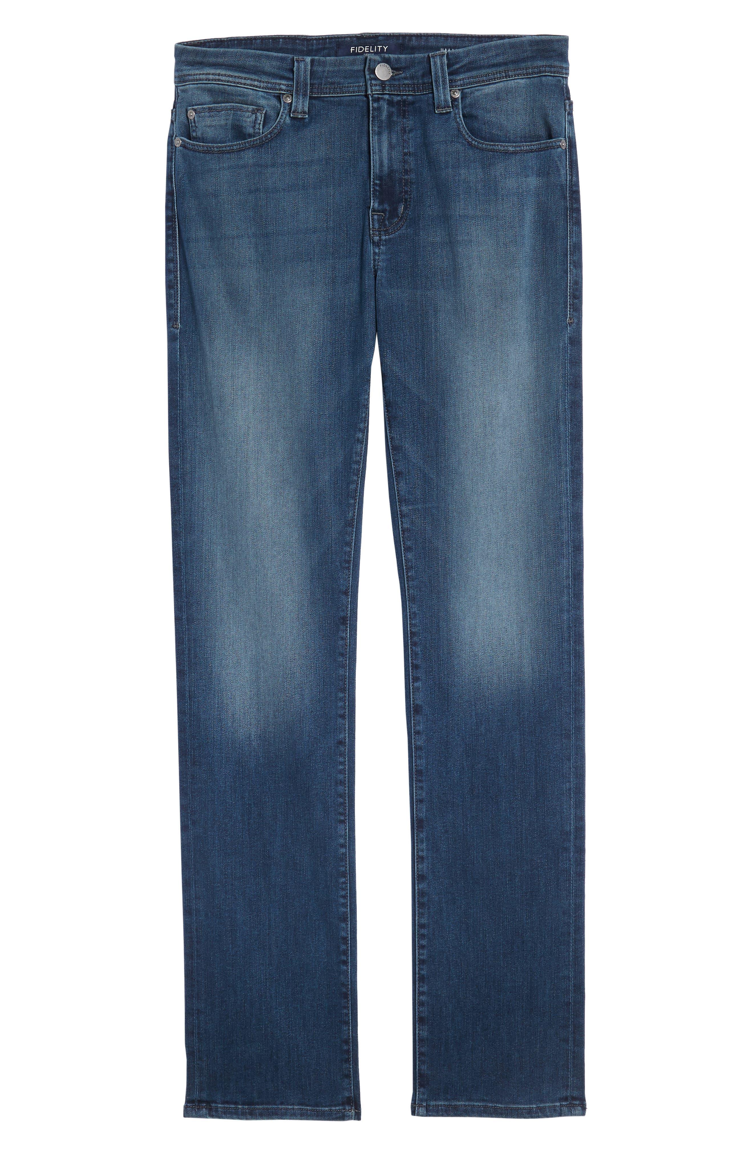 Jimmy Slim Straight Leg Jeans,                             Alternate thumbnail 6, color,                             Atlas Blue