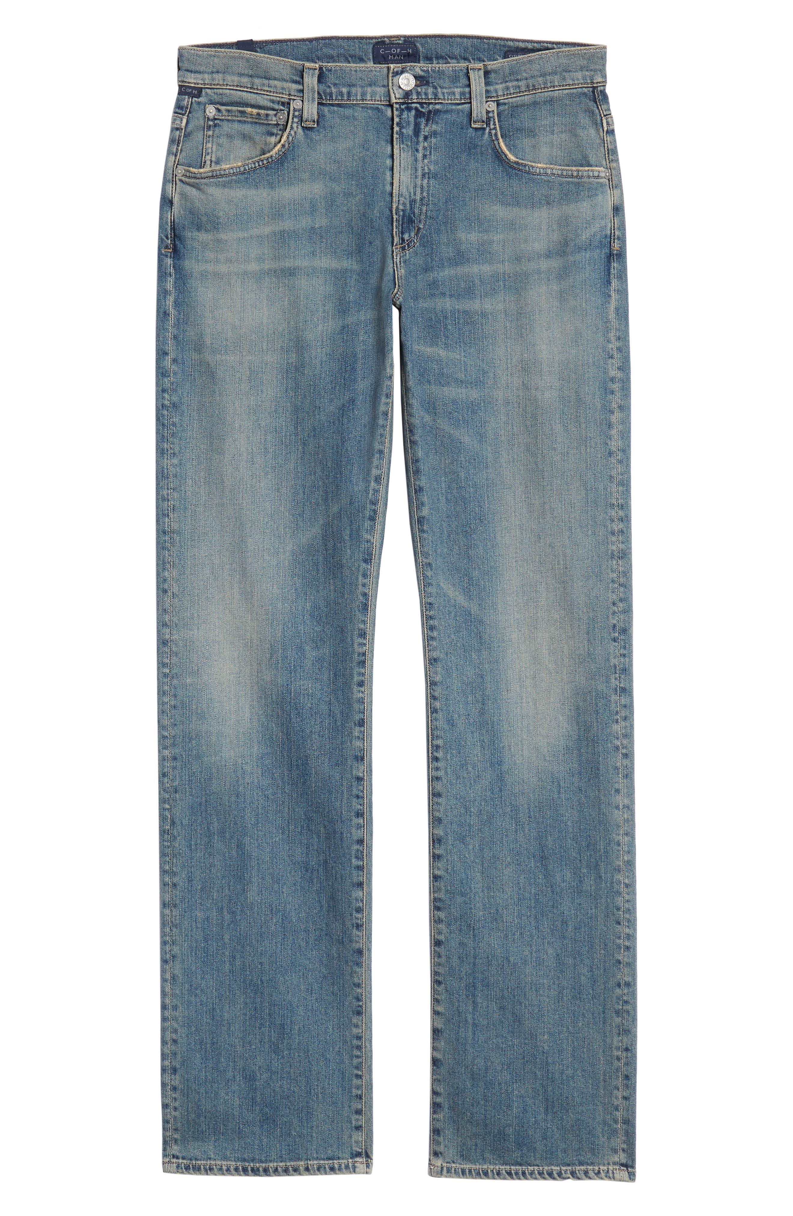 Sid Straight Leg Jeans,                             Alternate thumbnail 6, color,                             Hillcrest