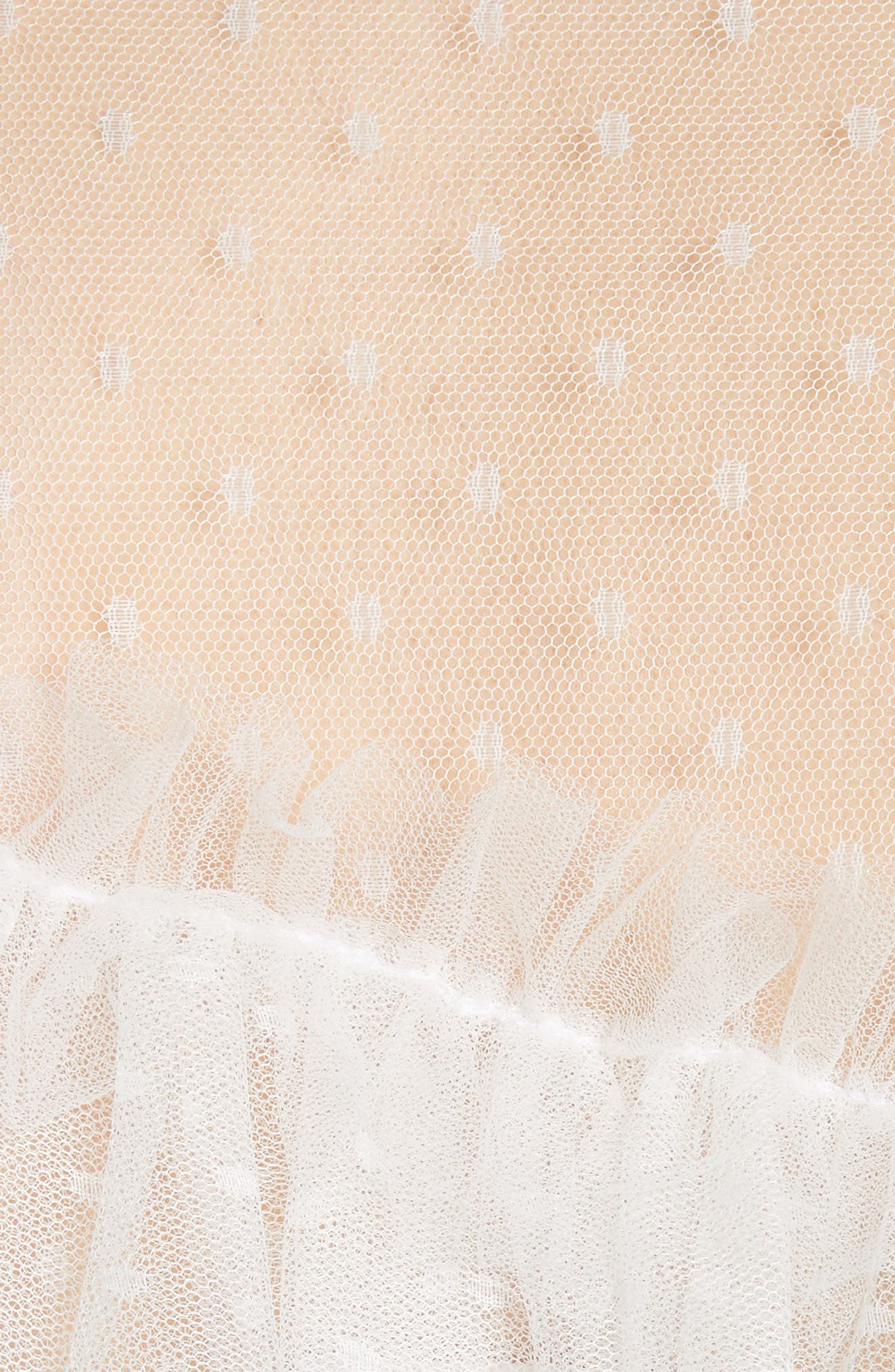Indio Layered Swiss Dot Top,                             Alternate thumbnail 5, color,                             Ivory