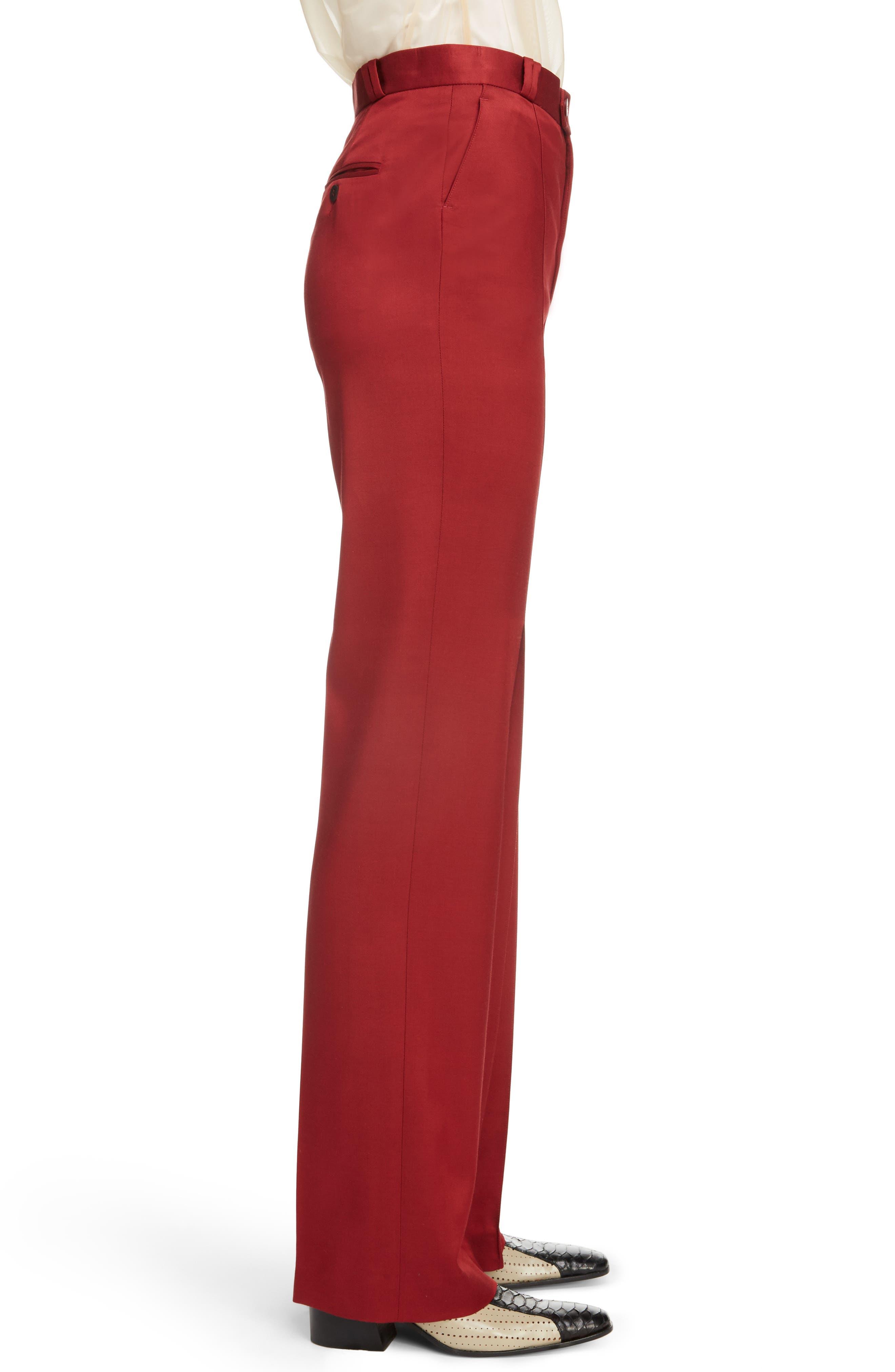 Tohny Suit Pants,                             Alternate thumbnail 4, color,                             Crimson Red