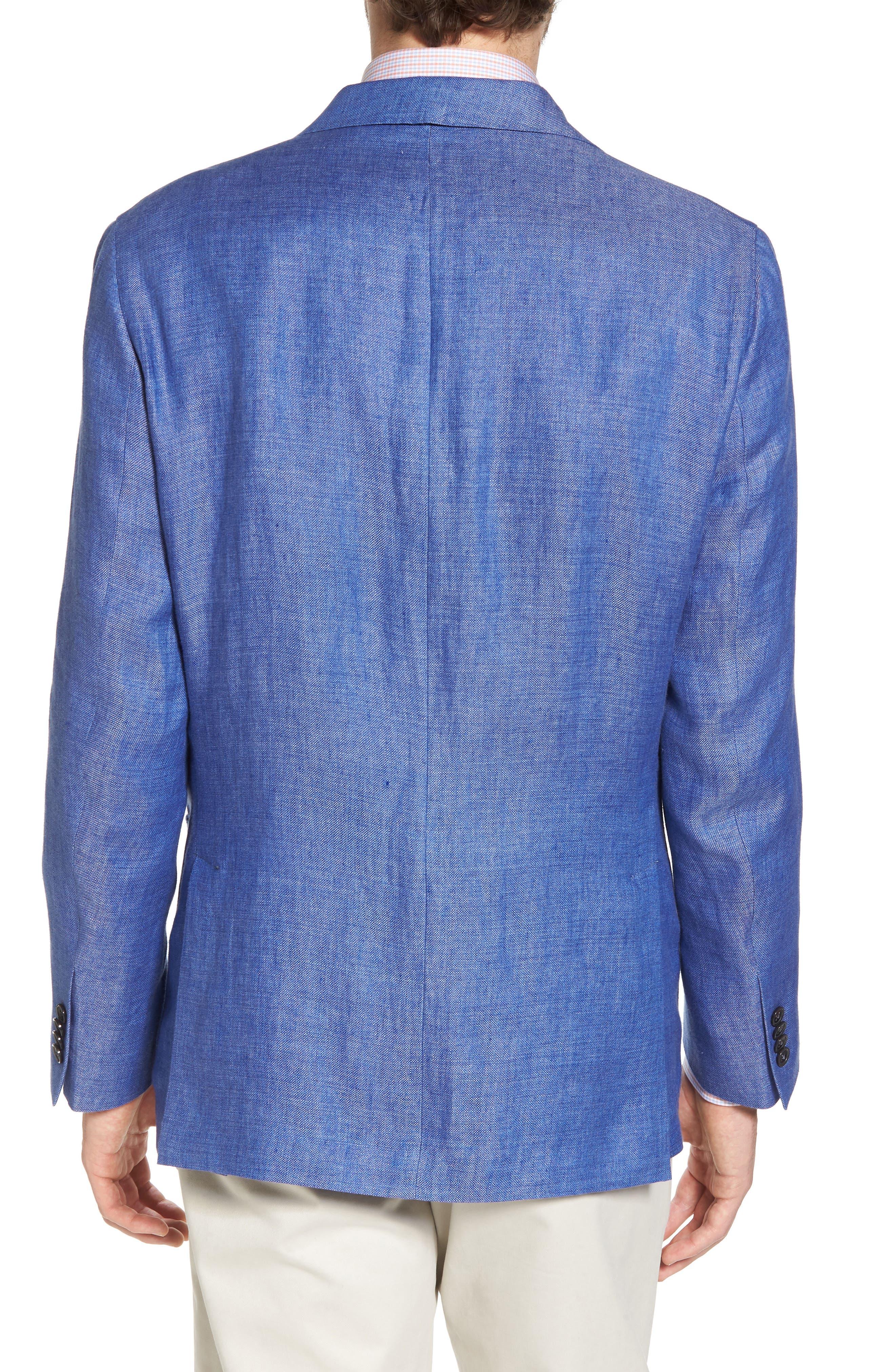 Aiden Classic Fit Linen Blazer,                             Alternate thumbnail 2, color,                             Blue