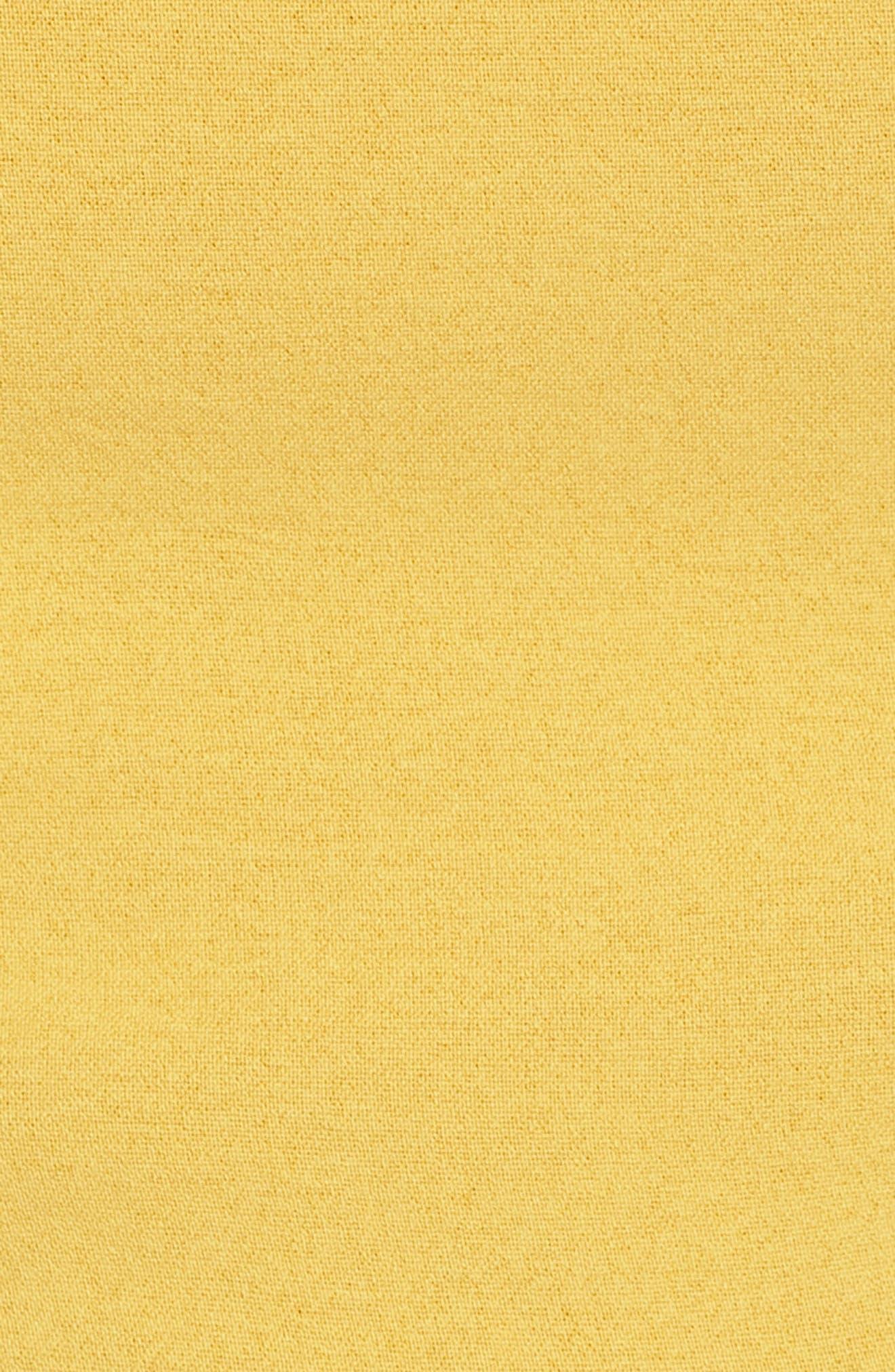 Chriselle x J.O.A. Asymmetrical Peplum Top,                             Alternate thumbnail 9, color,                             Roman Gold