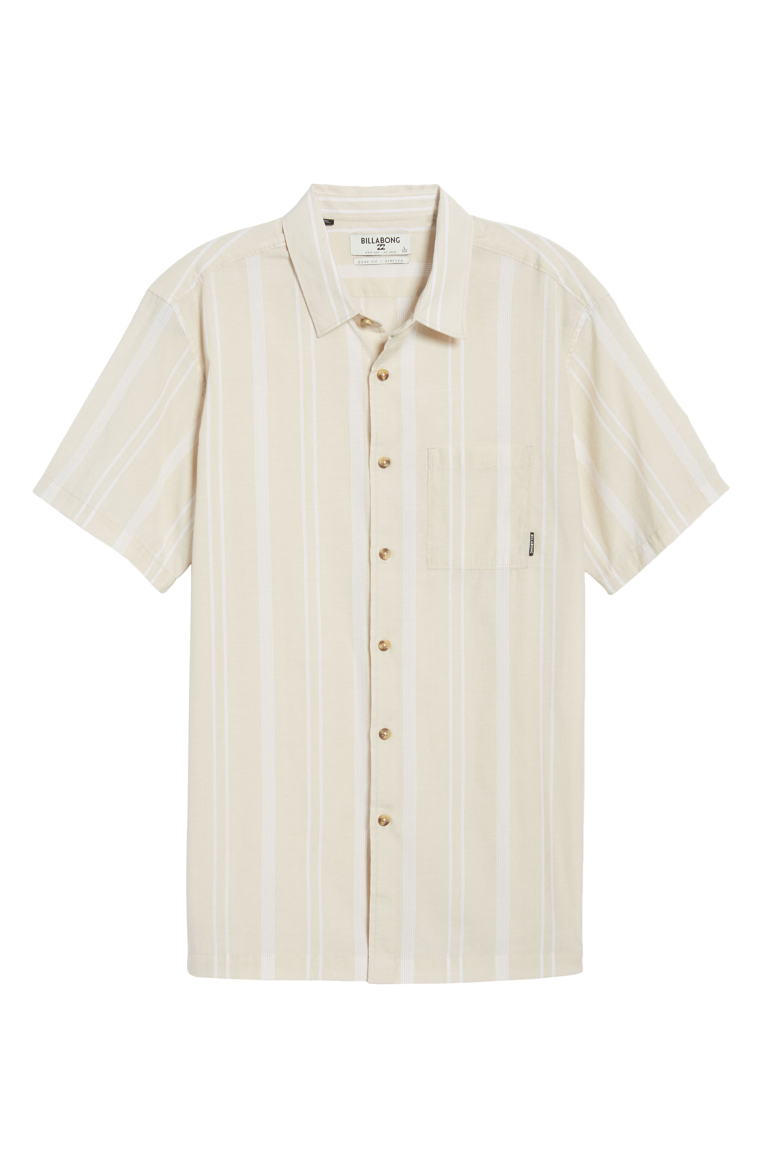 Donny Short Sleeve Shirt,                             Alternate thumbnail 6, color,                             Sand