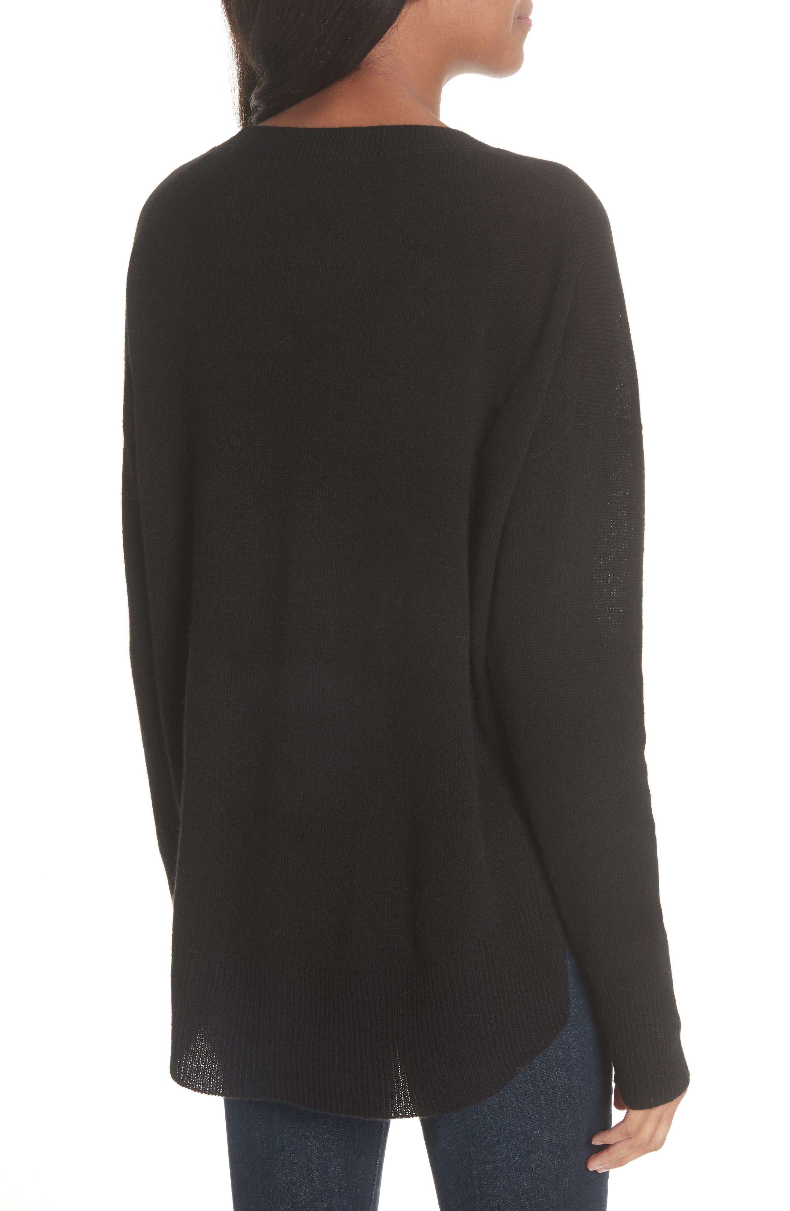 Karenia L Cashmere Sweater,                             Alternate thumbnail 2, color,                             Black