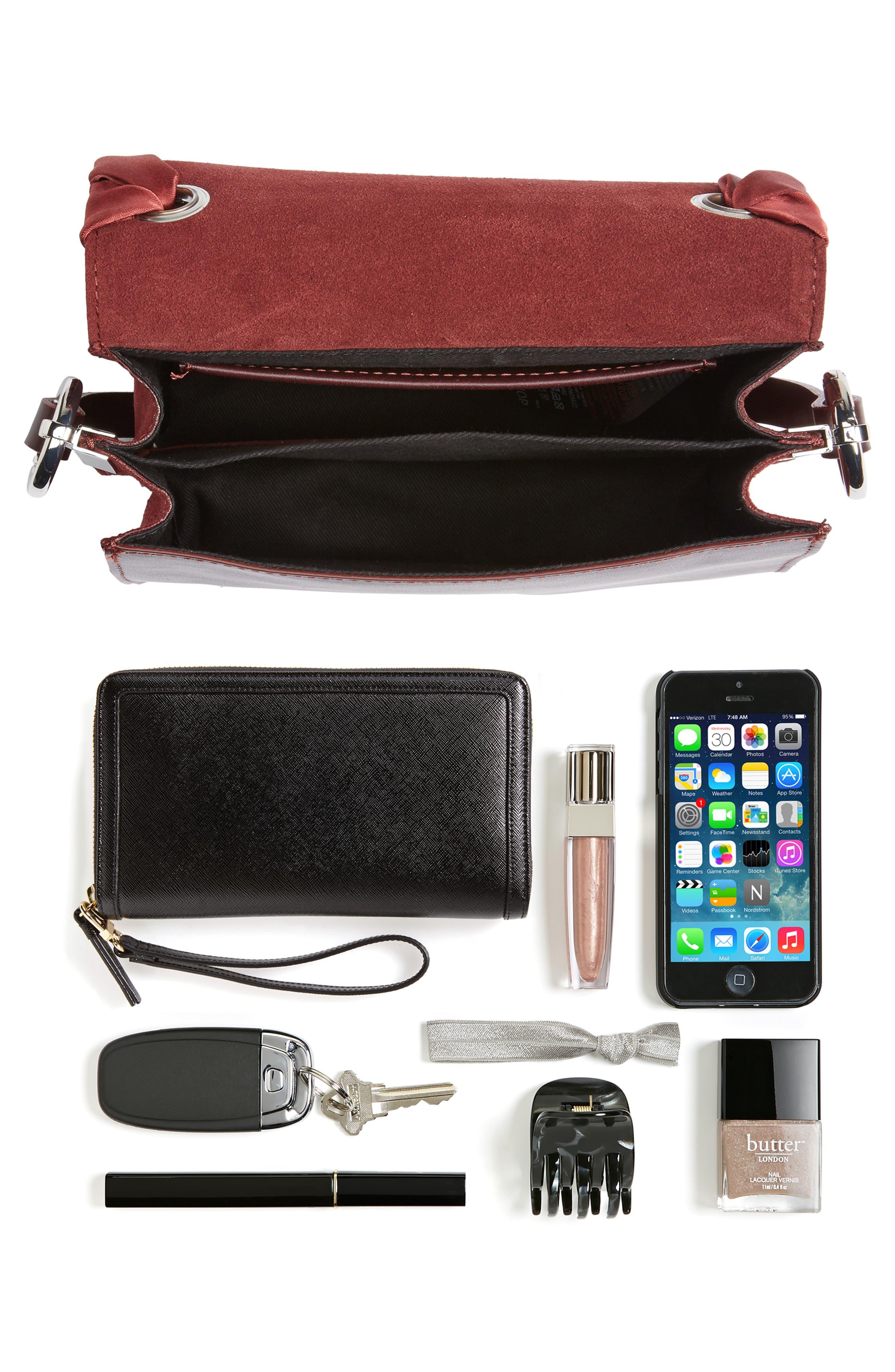 Alternate Image 6  - Topshop Premium Leather Grace Crossbody Bag