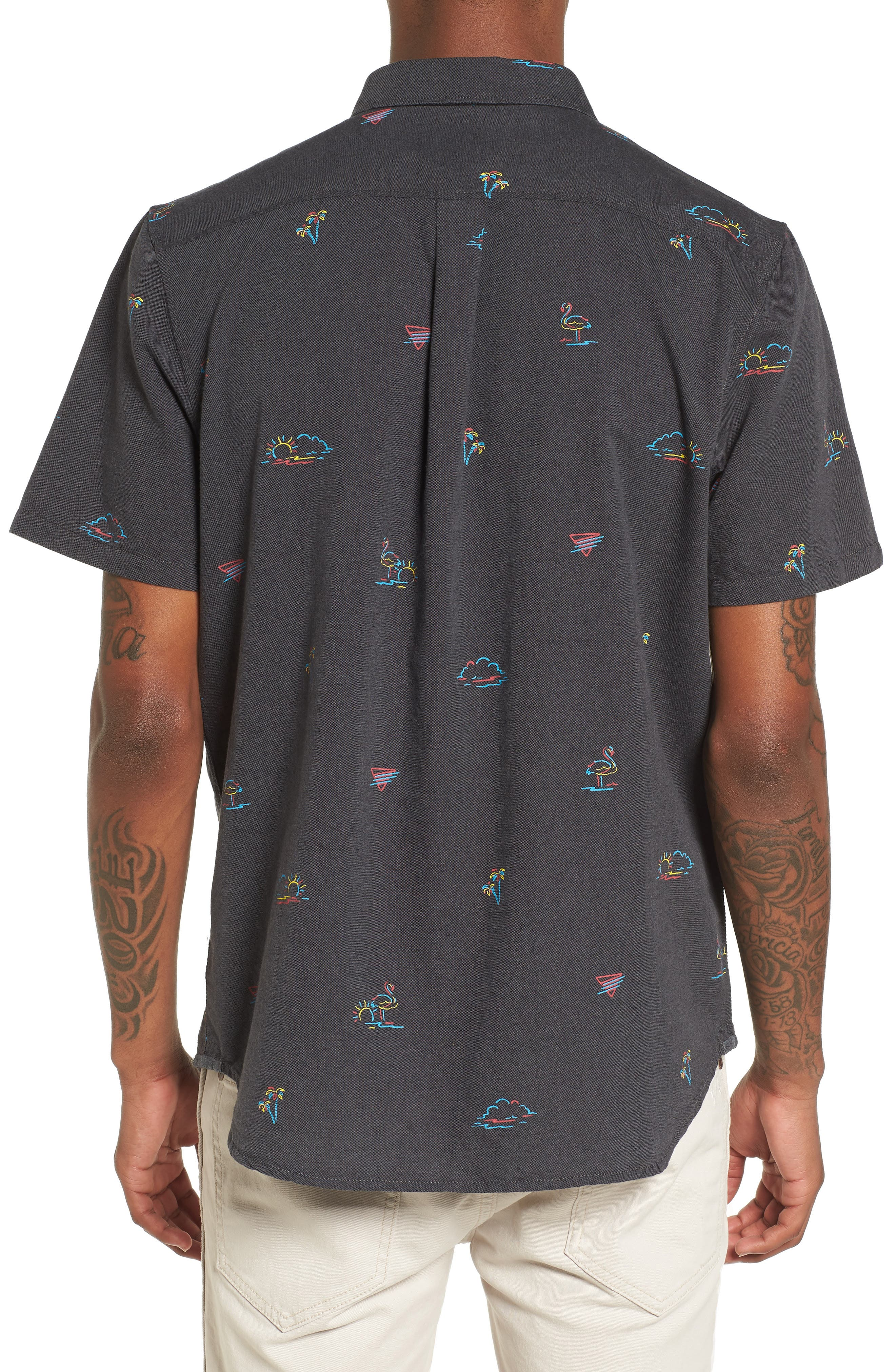 Houser Woven Shirt,                             Alternate thumbnail 3, color,                             Black Road Trippin