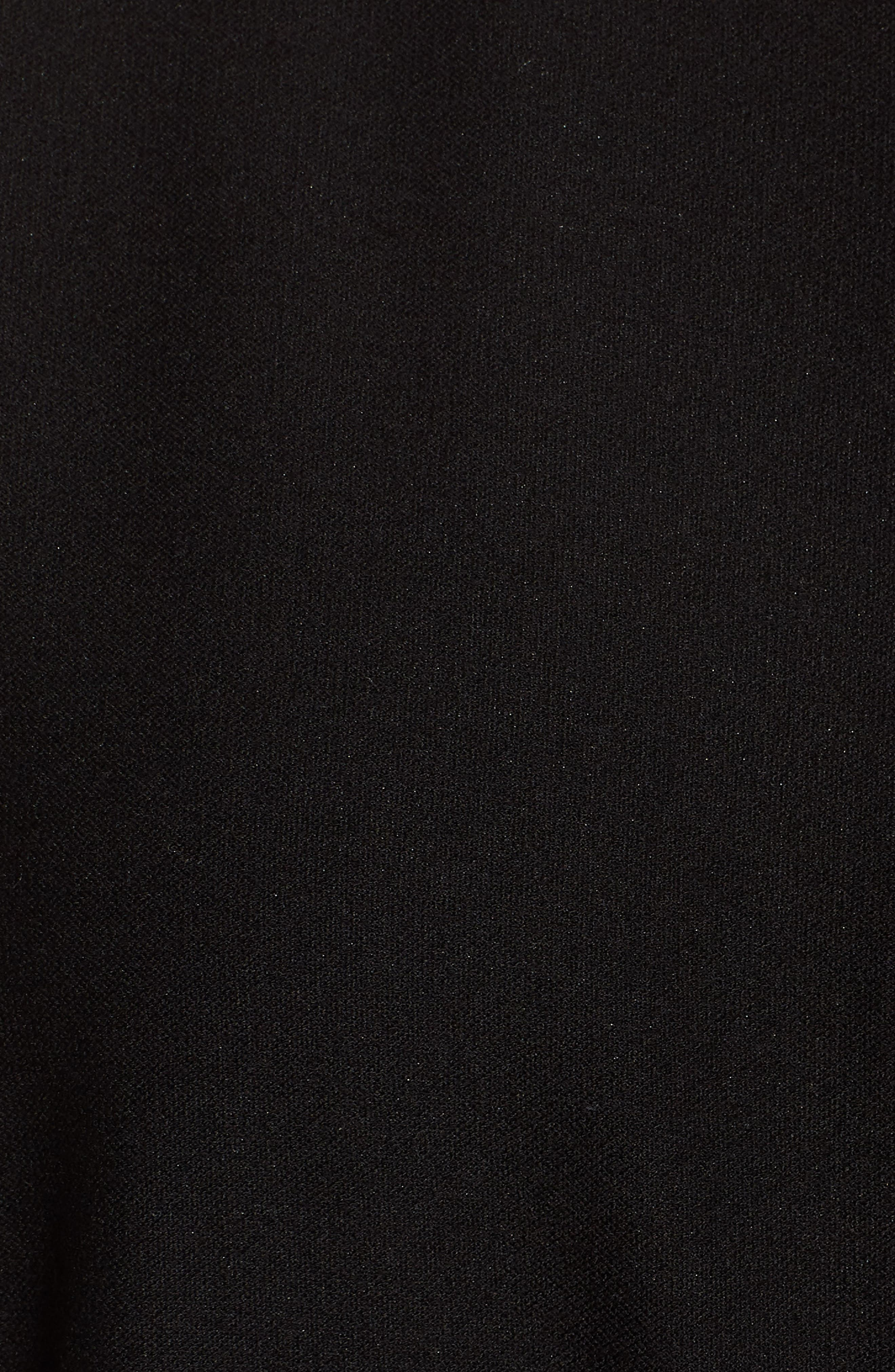 Slit Front Jersey Tunic,                             Alternate thumbnail 5, color,                             Black