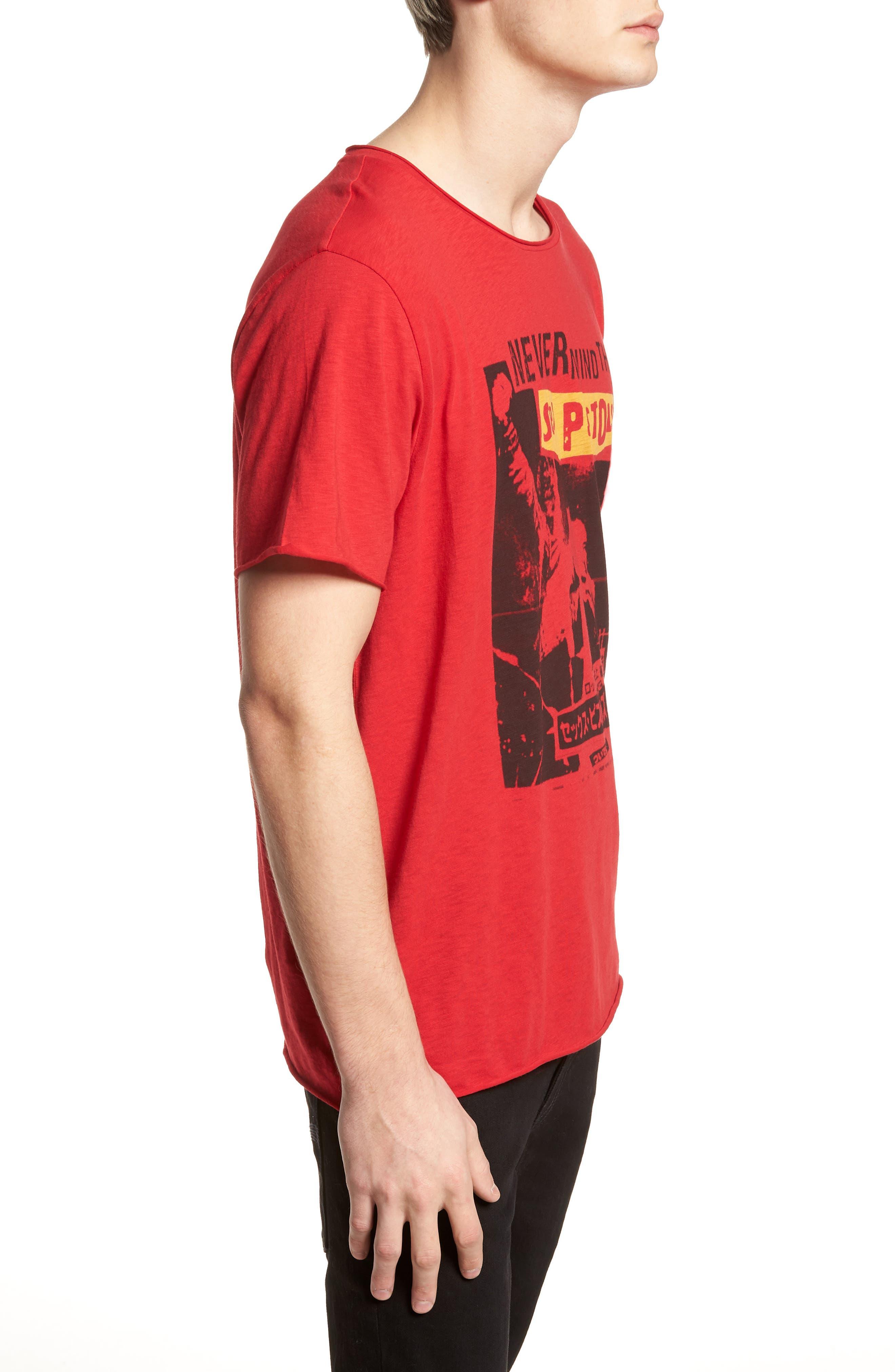 Sex Pistols Crewneck T-Shirt,                             Alternate thumbnail 3, color,                             Red Sex Pistols