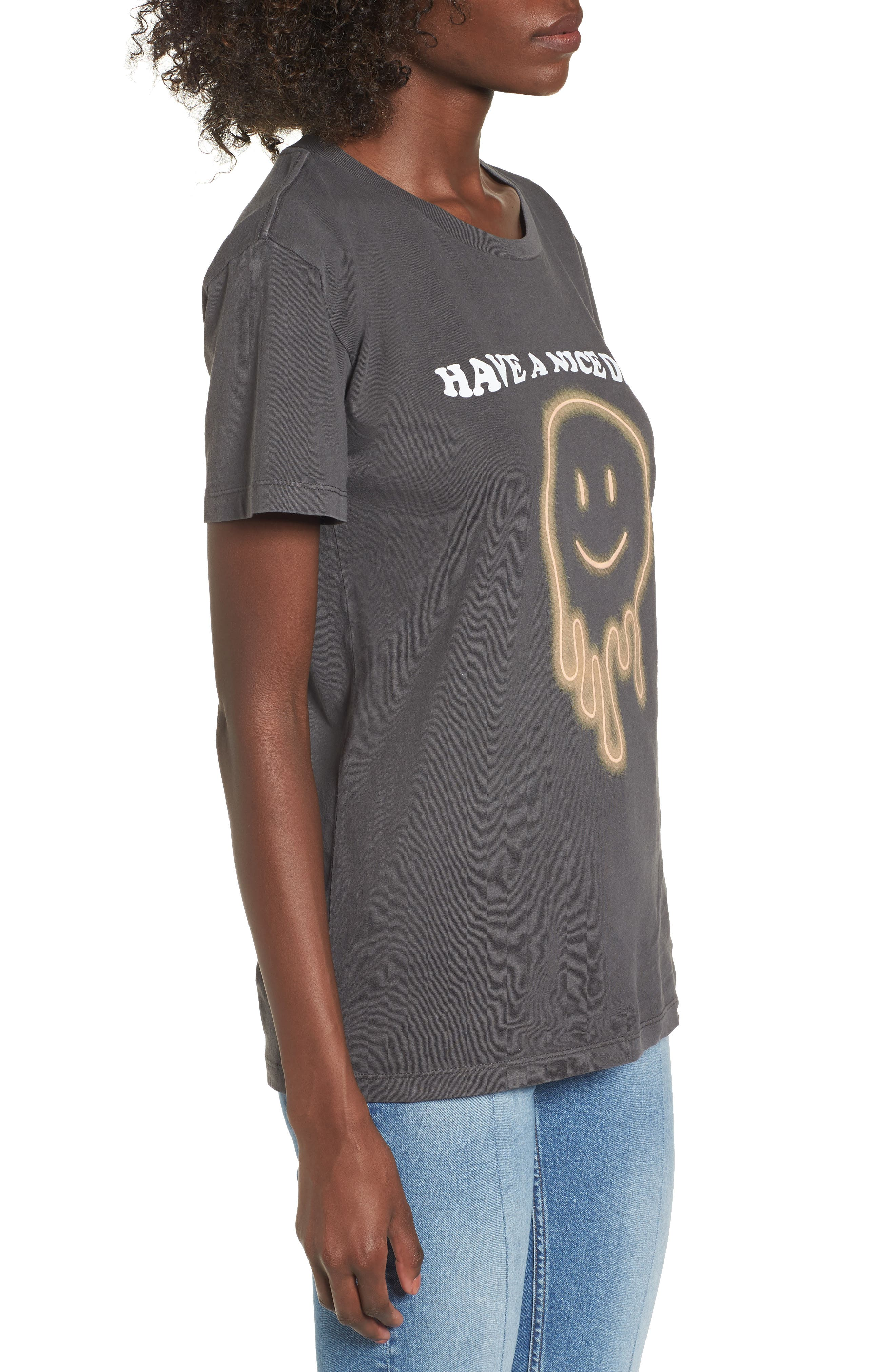 Have a Nice Day Boyfriend Tee,                             Alternate thumbnail 3, color,                             Washed Black