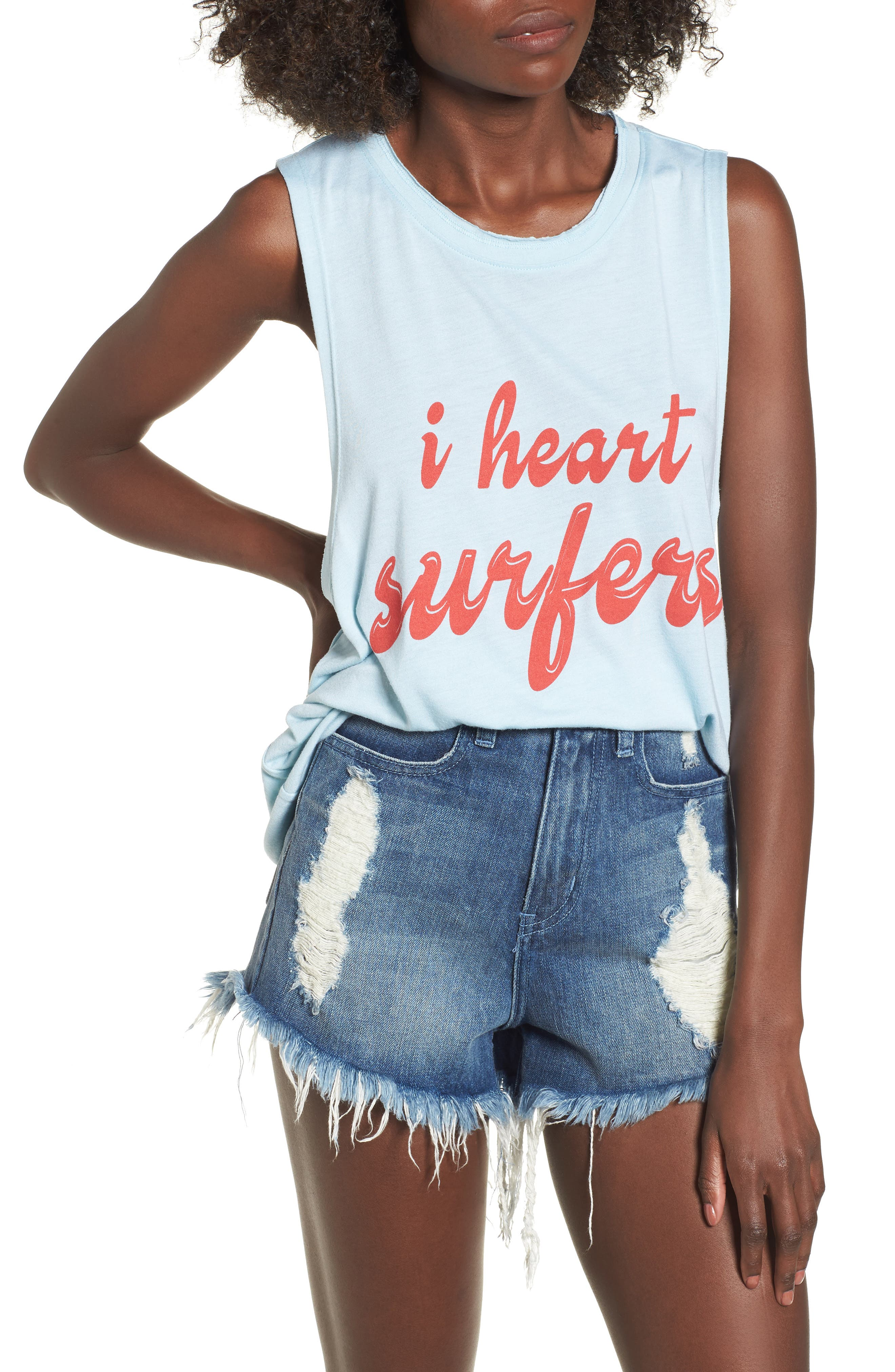 Mikey Muscle Tank,                         Main,                         color, I Heart Surfers