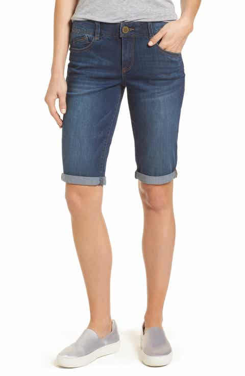 Wit & Wisdom Ab-solution Cuffed Denim Shorts (Nordstrom Exclusive)