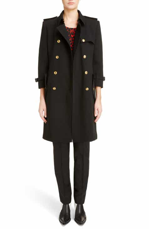 ba00fe26a005 Givenchy Double Breasted Wool Coat