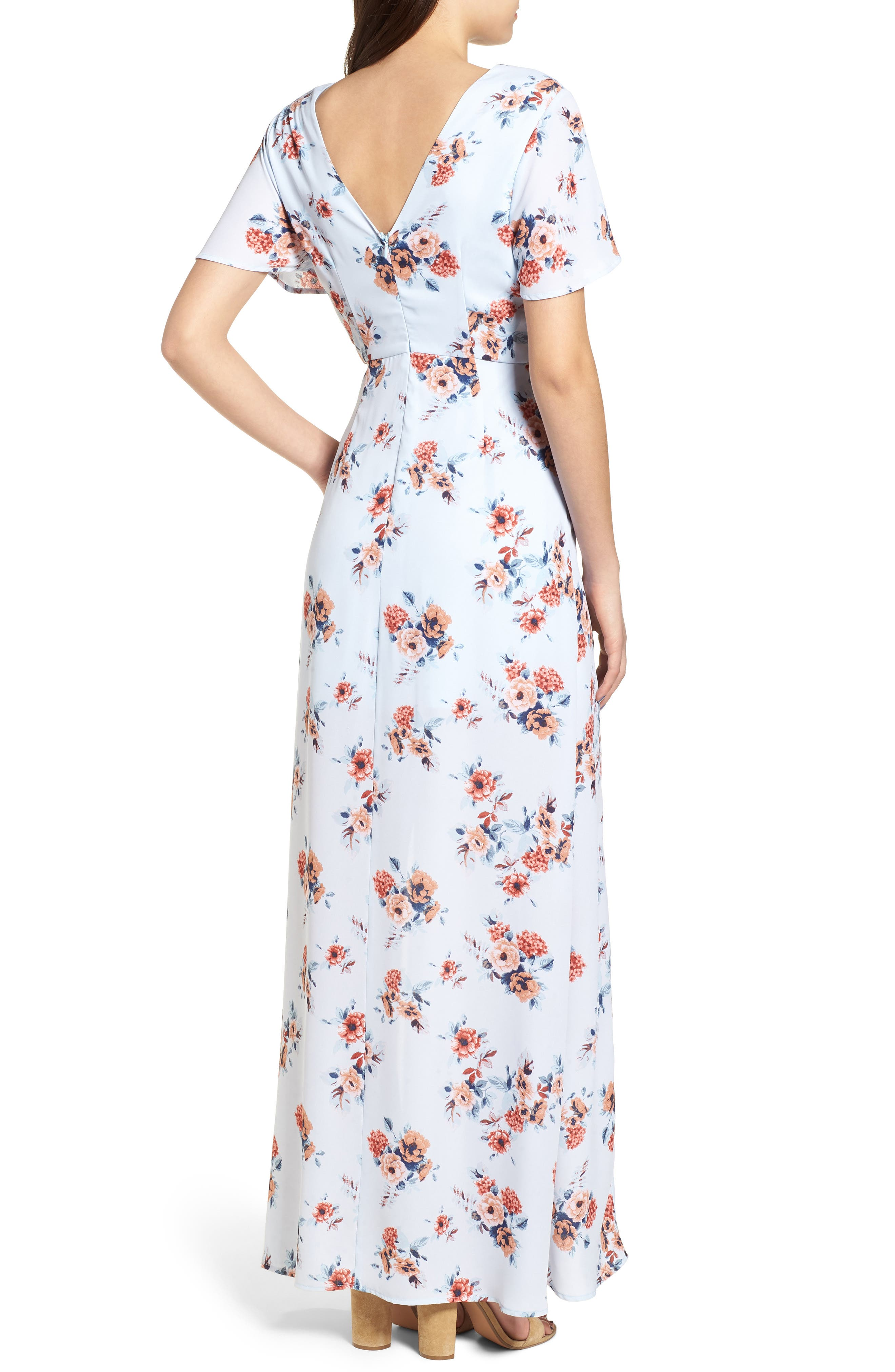 Alternate Image 2  - Dee Elly Floral Maxi Dress