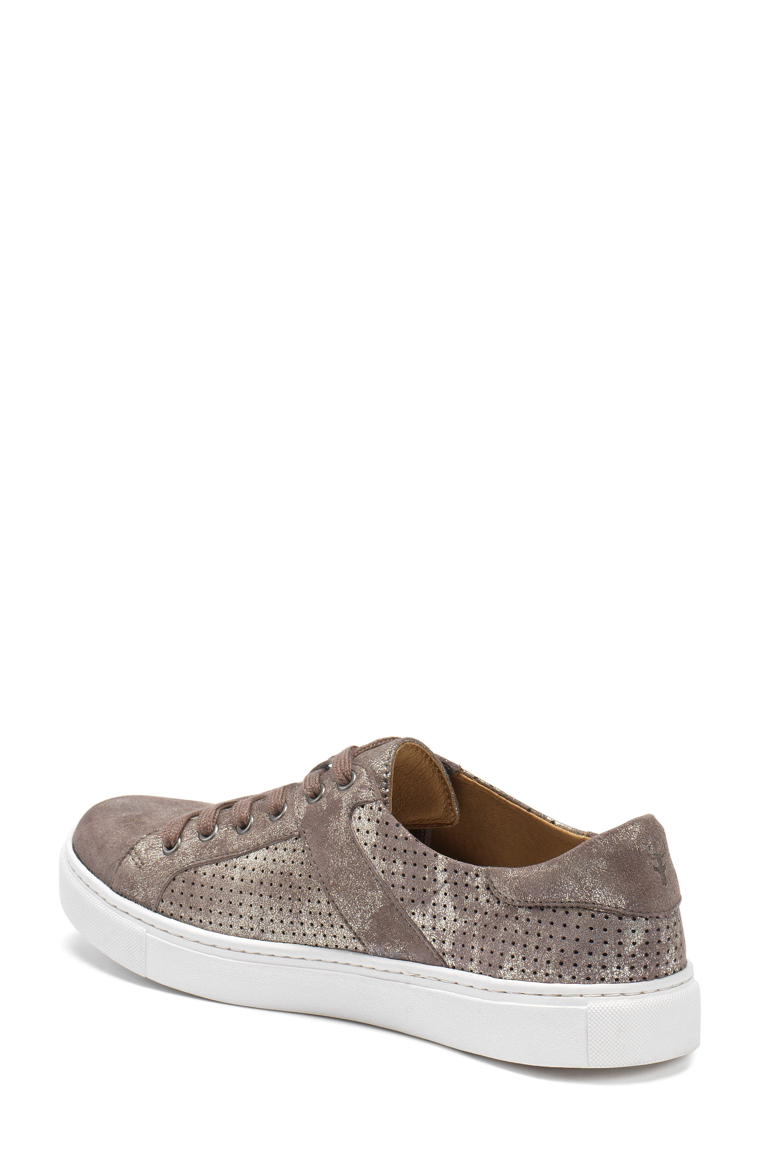 Lindsey Sneaker,                             Alternate thumbnail 2, color,                             Pewter Suede