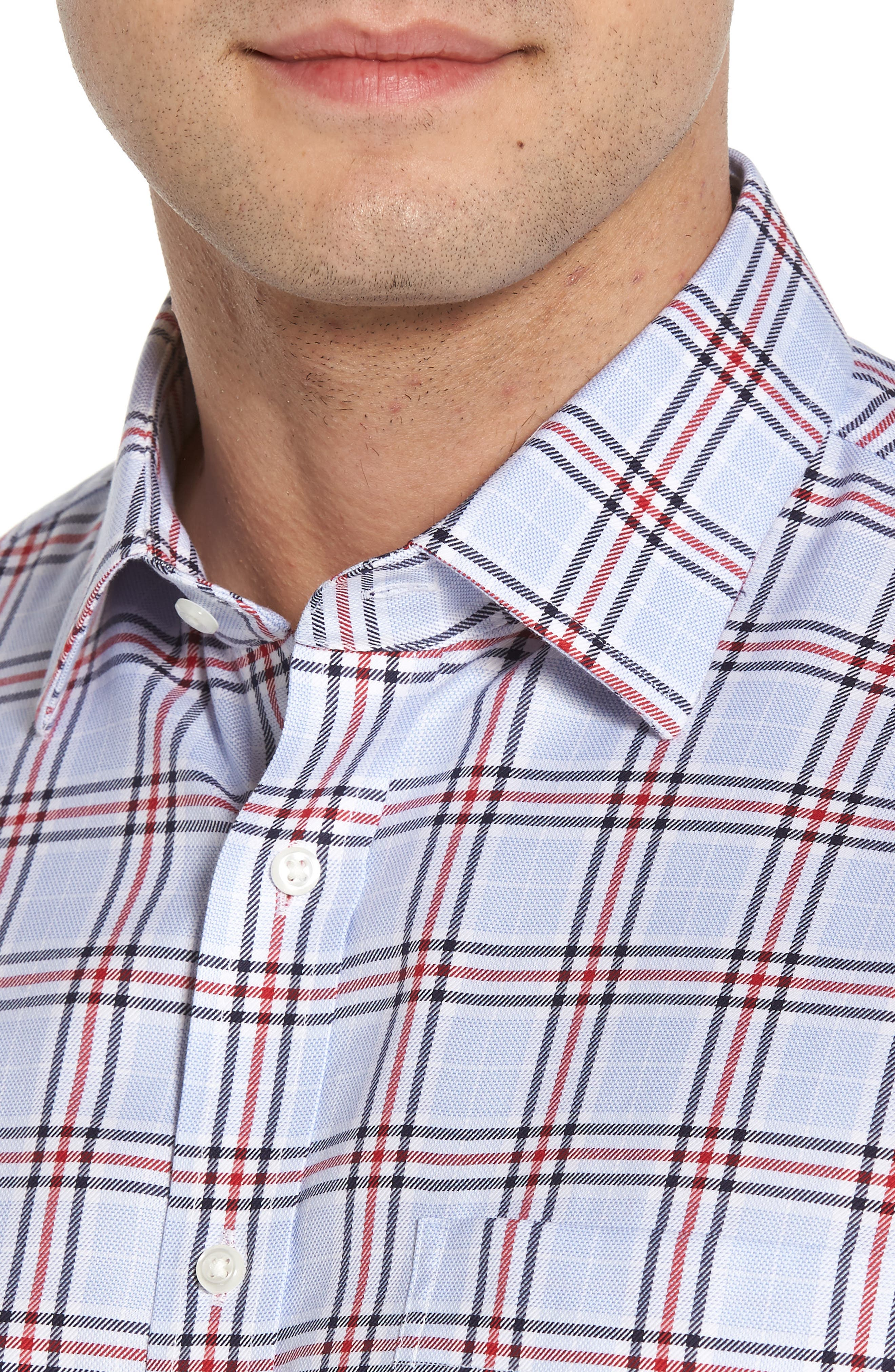 Alternate Image 4  - Nordstrom Men's Shop Smartcare™ Classic Fit Plaid Dress Shirt