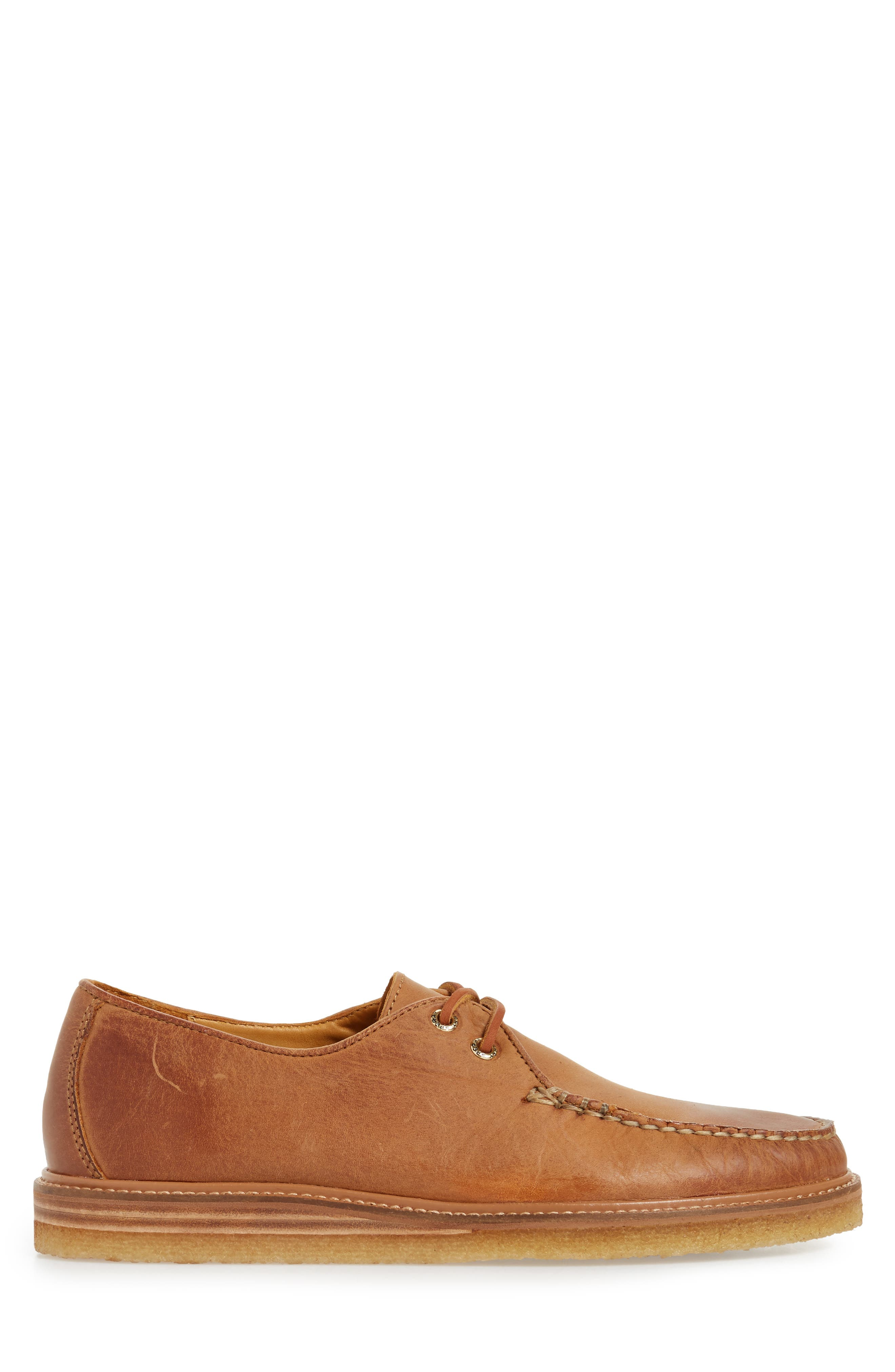 Gold Cup Captain's Crepe Sole Oxford,                             Alternate thumbnail 3, color,                             Tan Leather