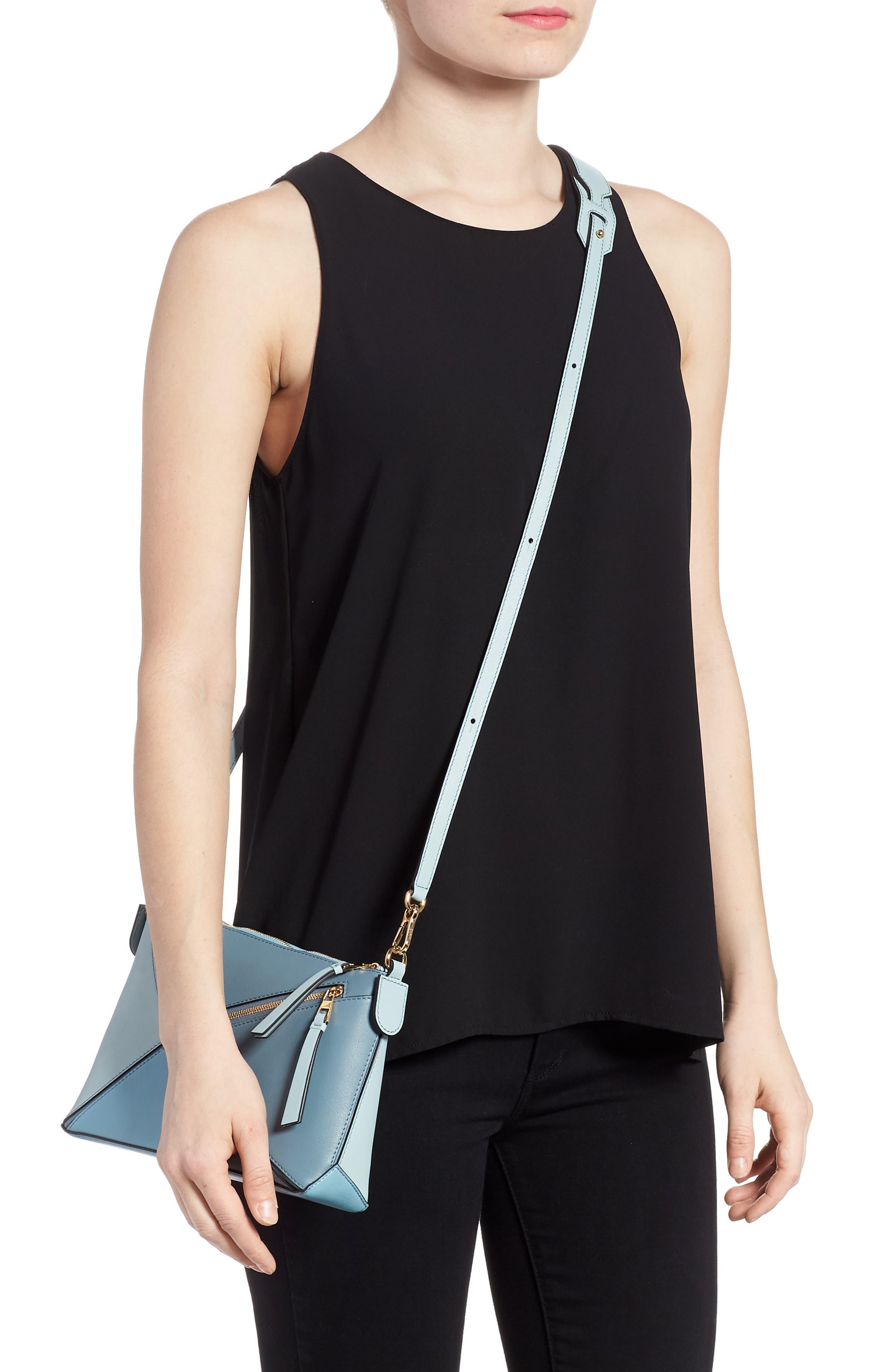 Mini Puzzle Calfskin Leather Crossbody Bag,                             Alternate thumbnail 2, color,                             Stone Blue Multitone