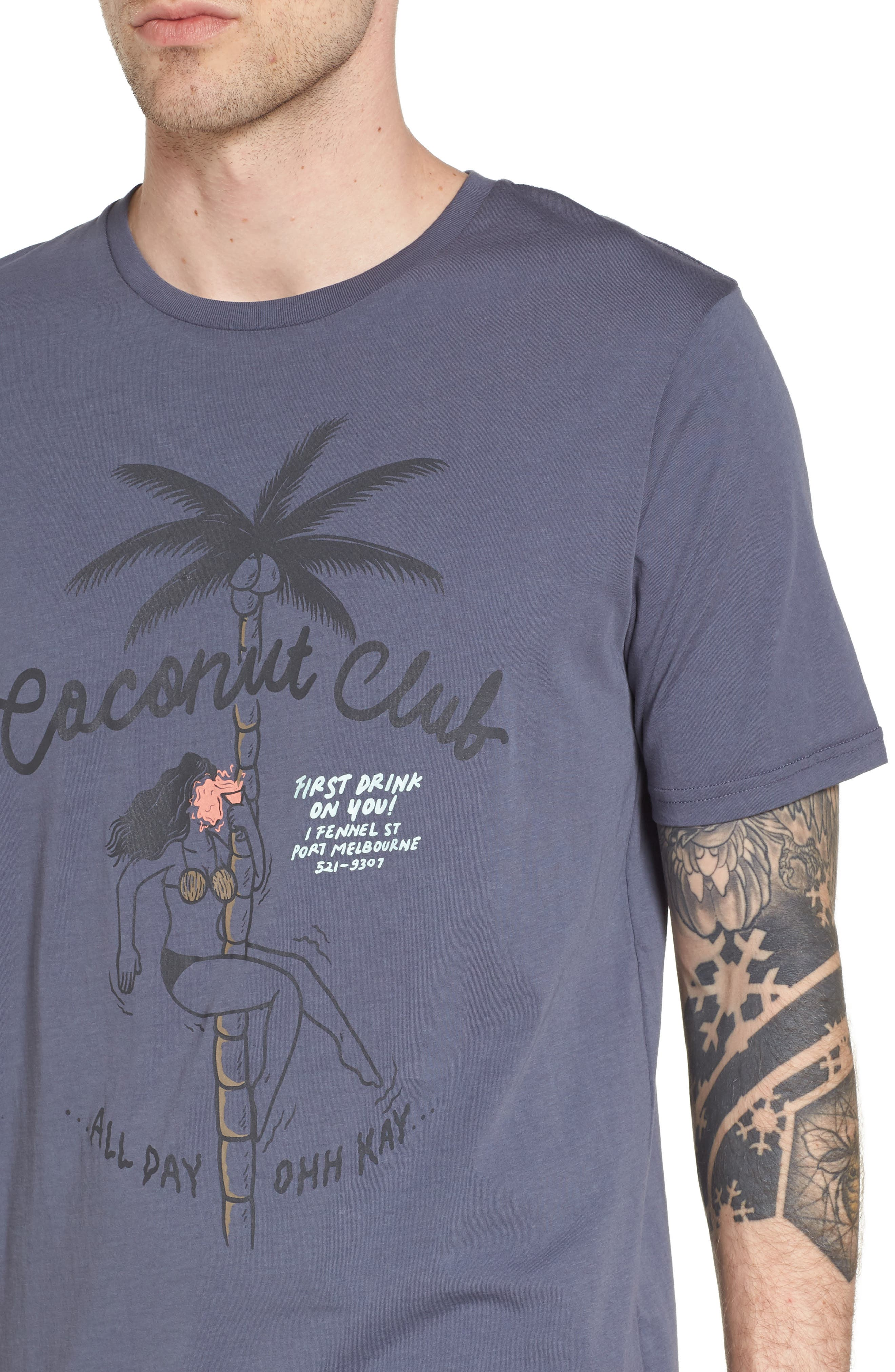 Club Graphic T-Shirt,                             Alternate thumbnail 4, color,                             Bruise Blue