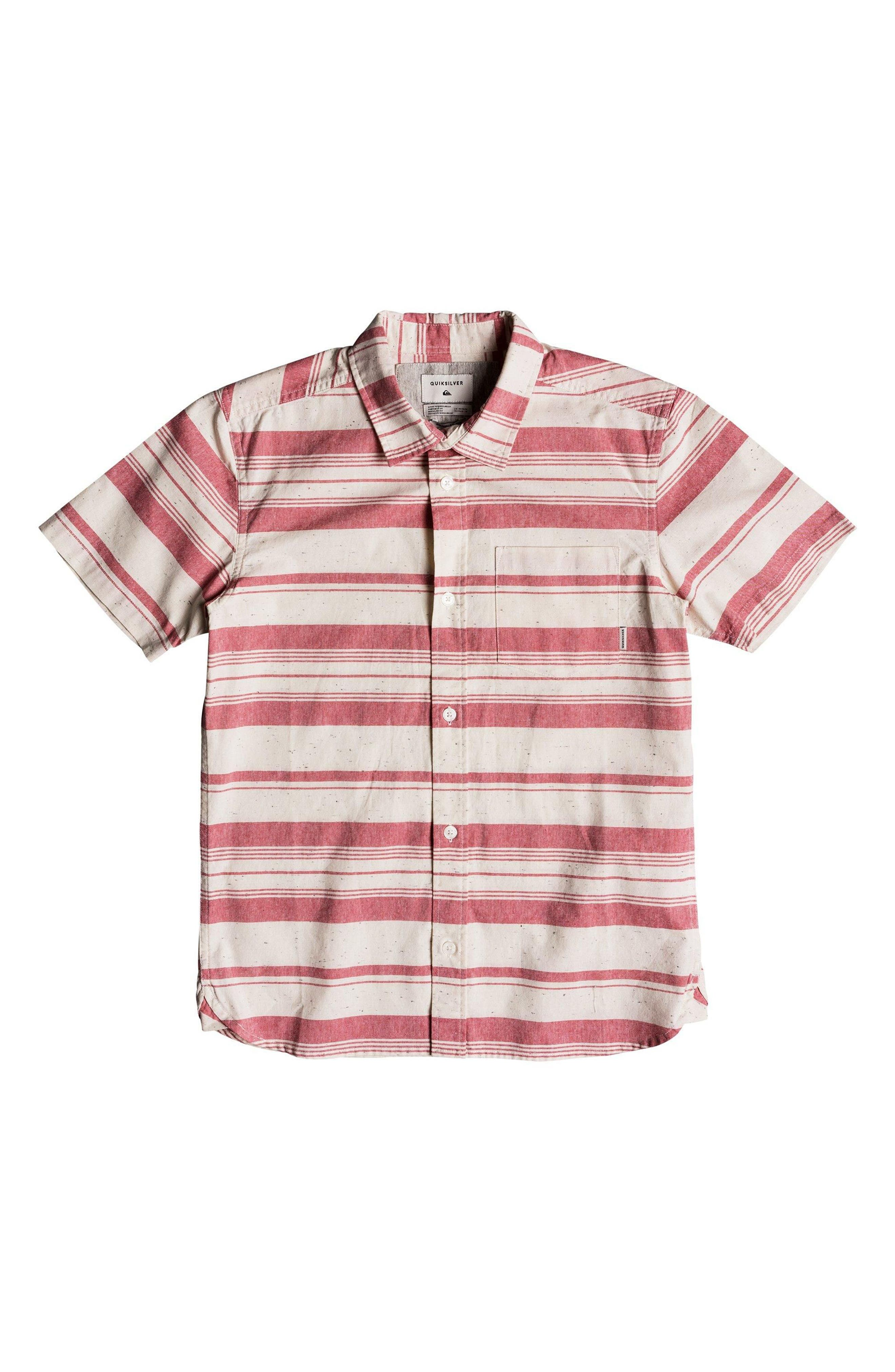 Good Wall Woven Shirt,                         Main,                         color, Mineral Red