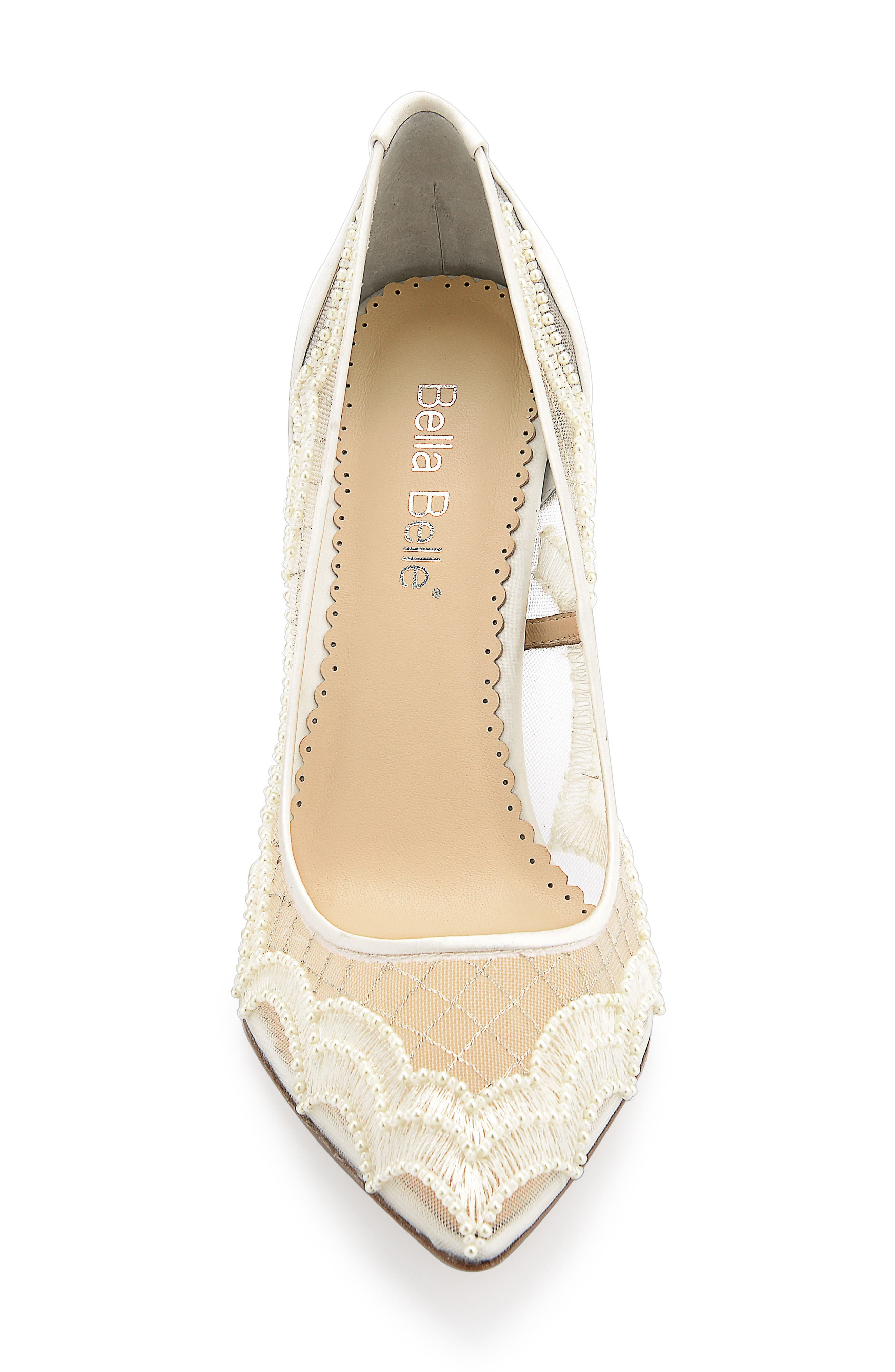 Nadia Pump,                             Alternate thumbnail 4, color,                             Ivory Silk