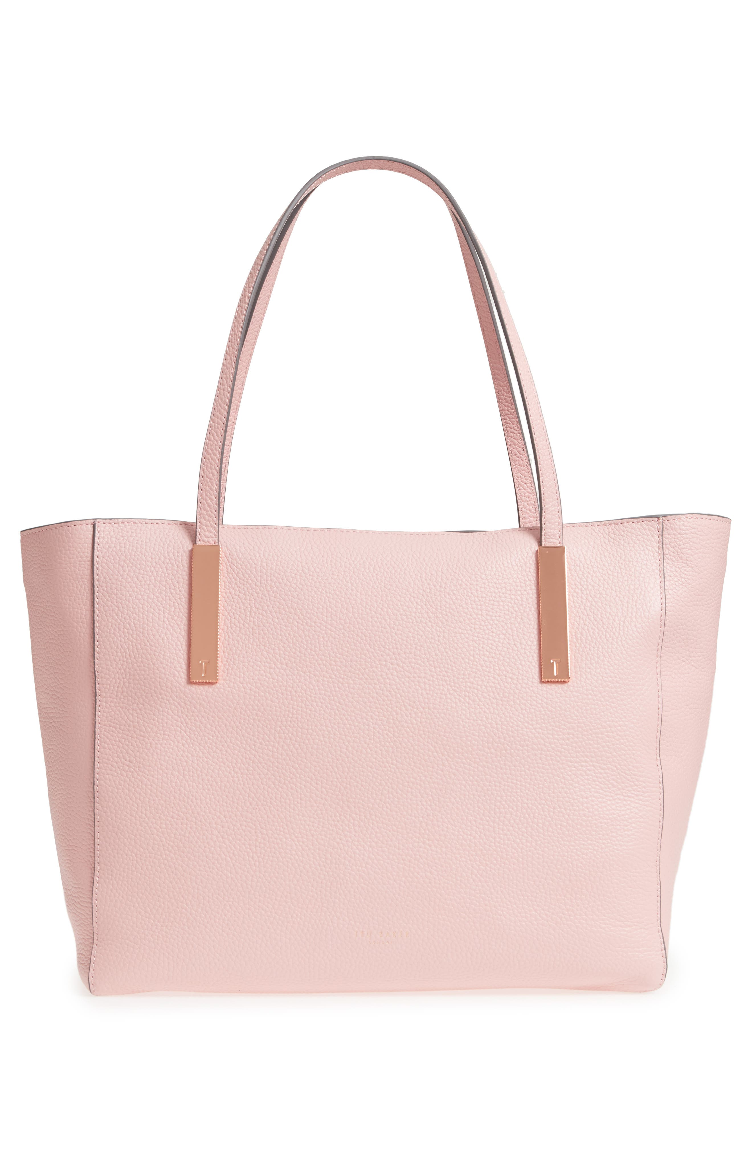 Palace Gardens Large Leather Tote,                             Alternate thumbnail 3, color,                             Dusky Pink