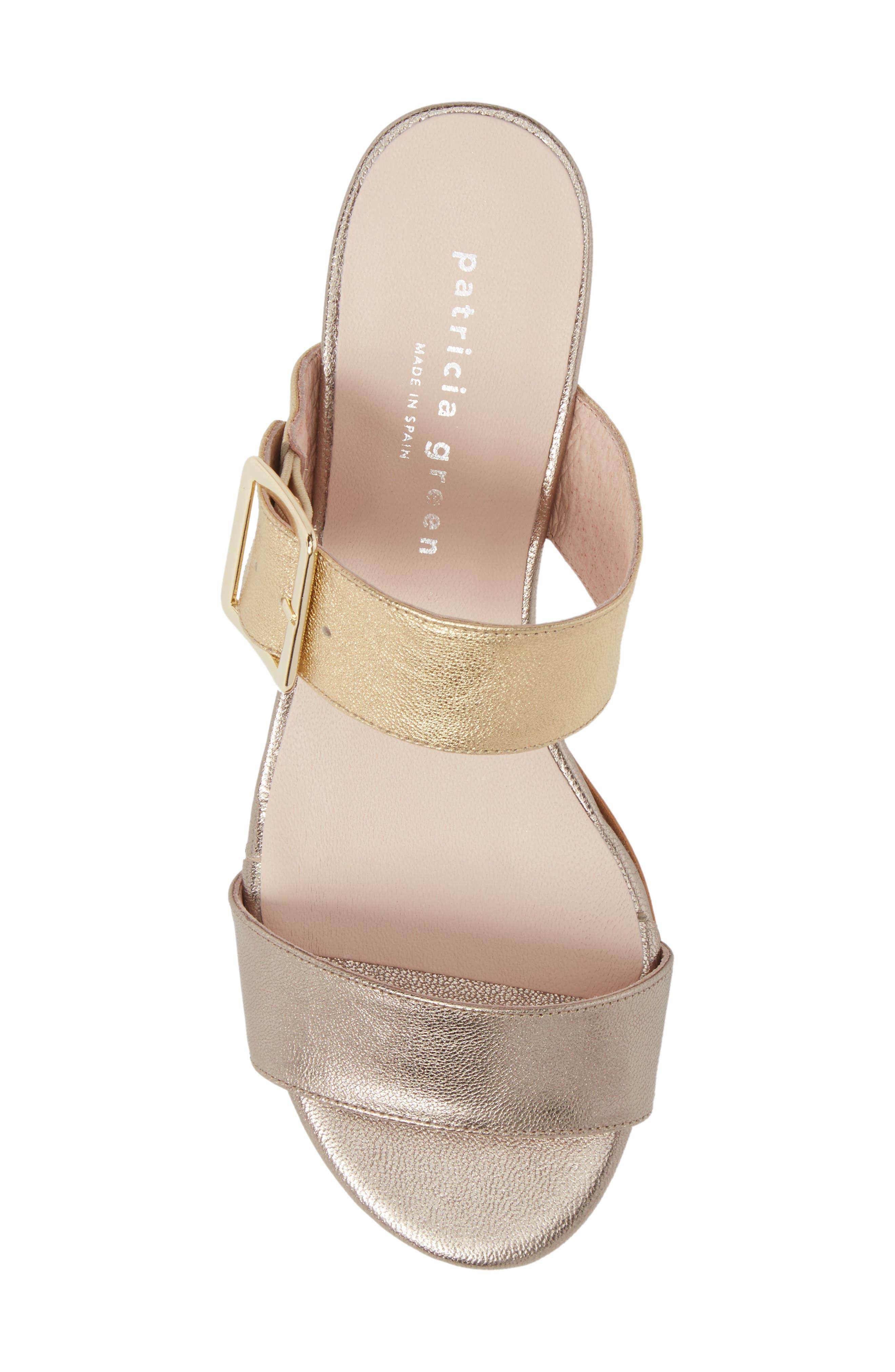 Ruth Slide Sandal,                             Alternate thumbnail 5, color,                             Gold/ Bronze Leather