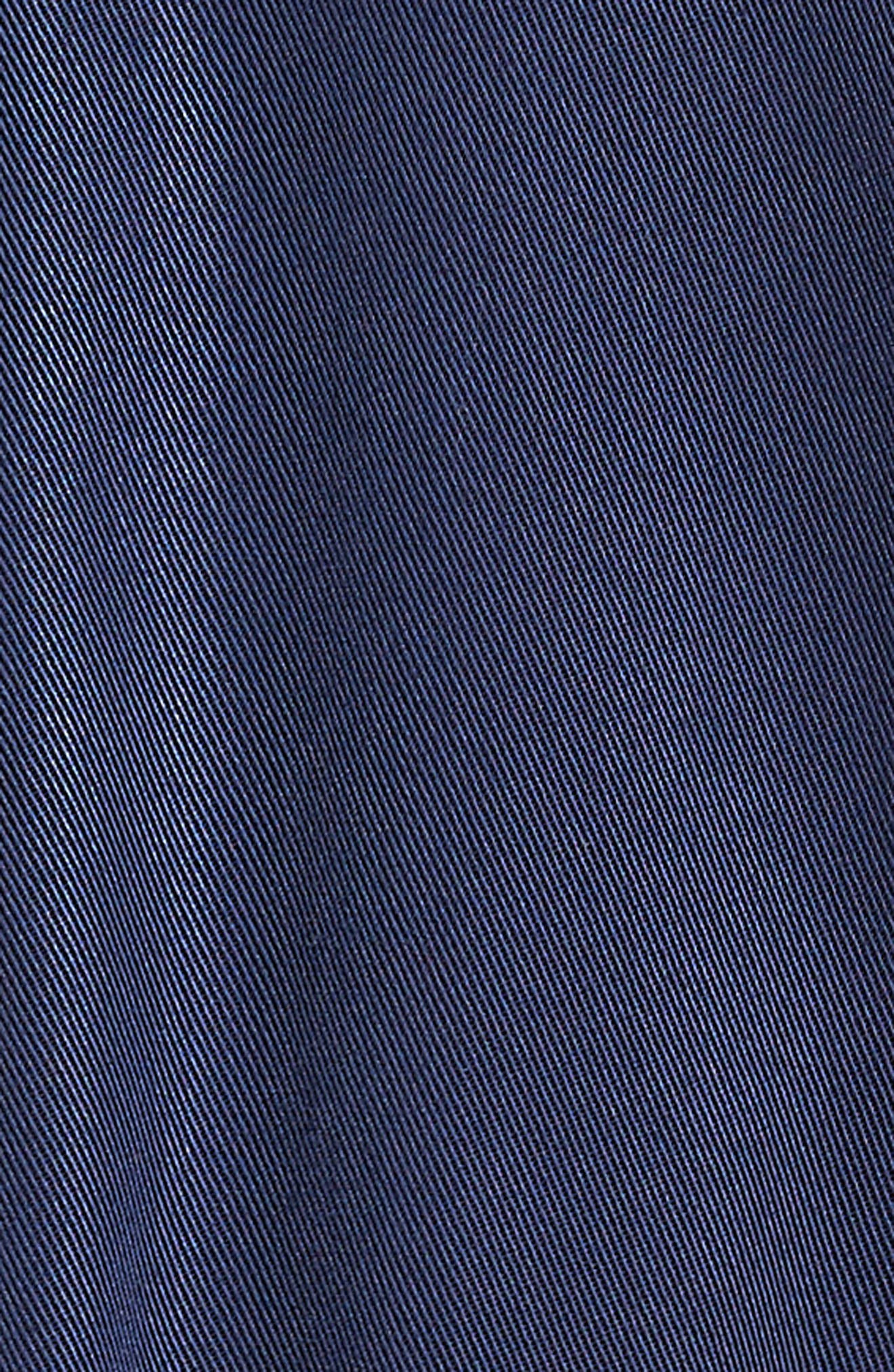 Ruffle Hem Zip Front Jacket,                             Alternate thumbnail 5, color,                             Navy Peacoat