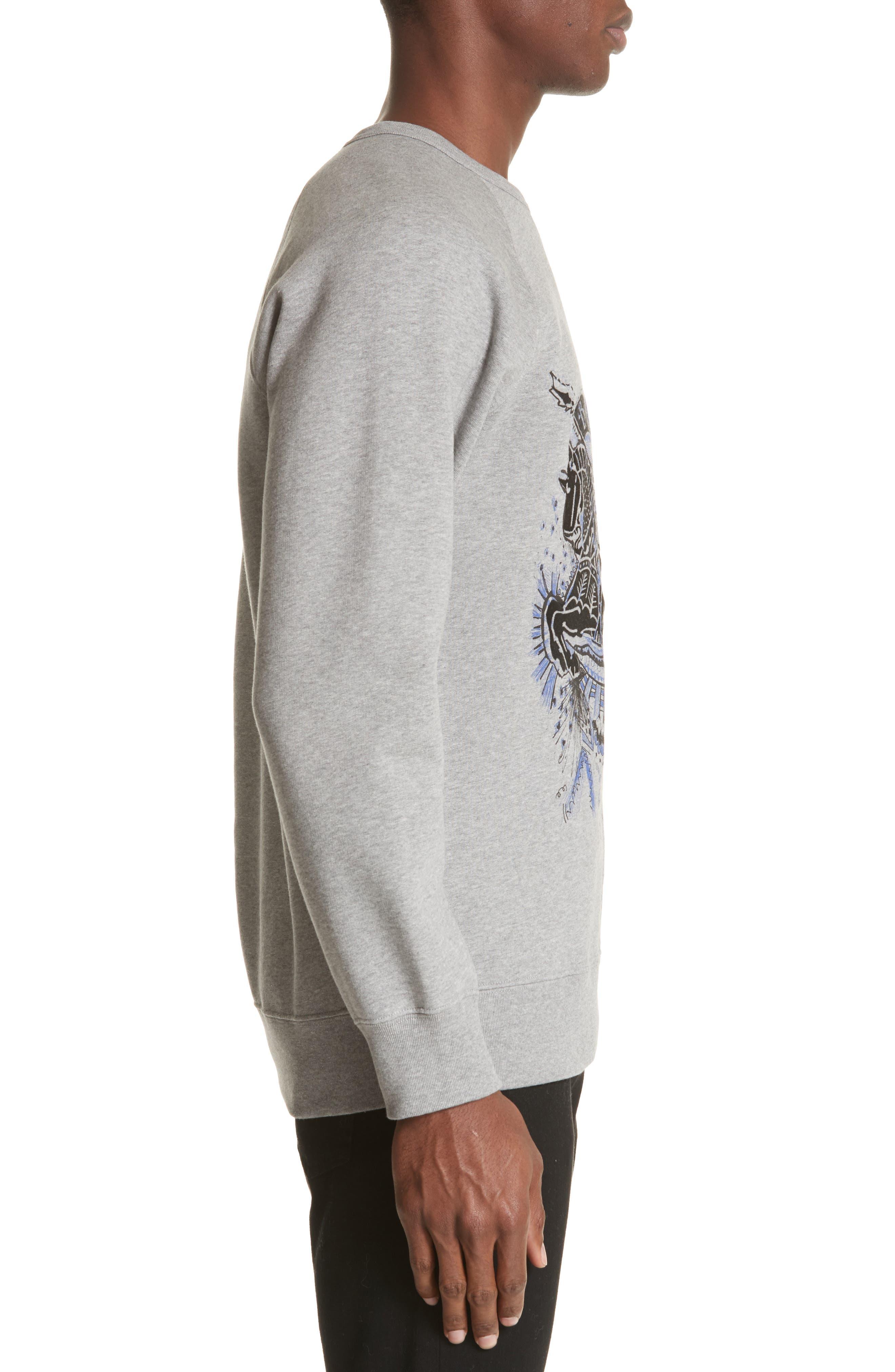 Kaneford Standard Fit Sweatshirt,                             Alternate thumbnail 3, color,                             Pale Grey Melange