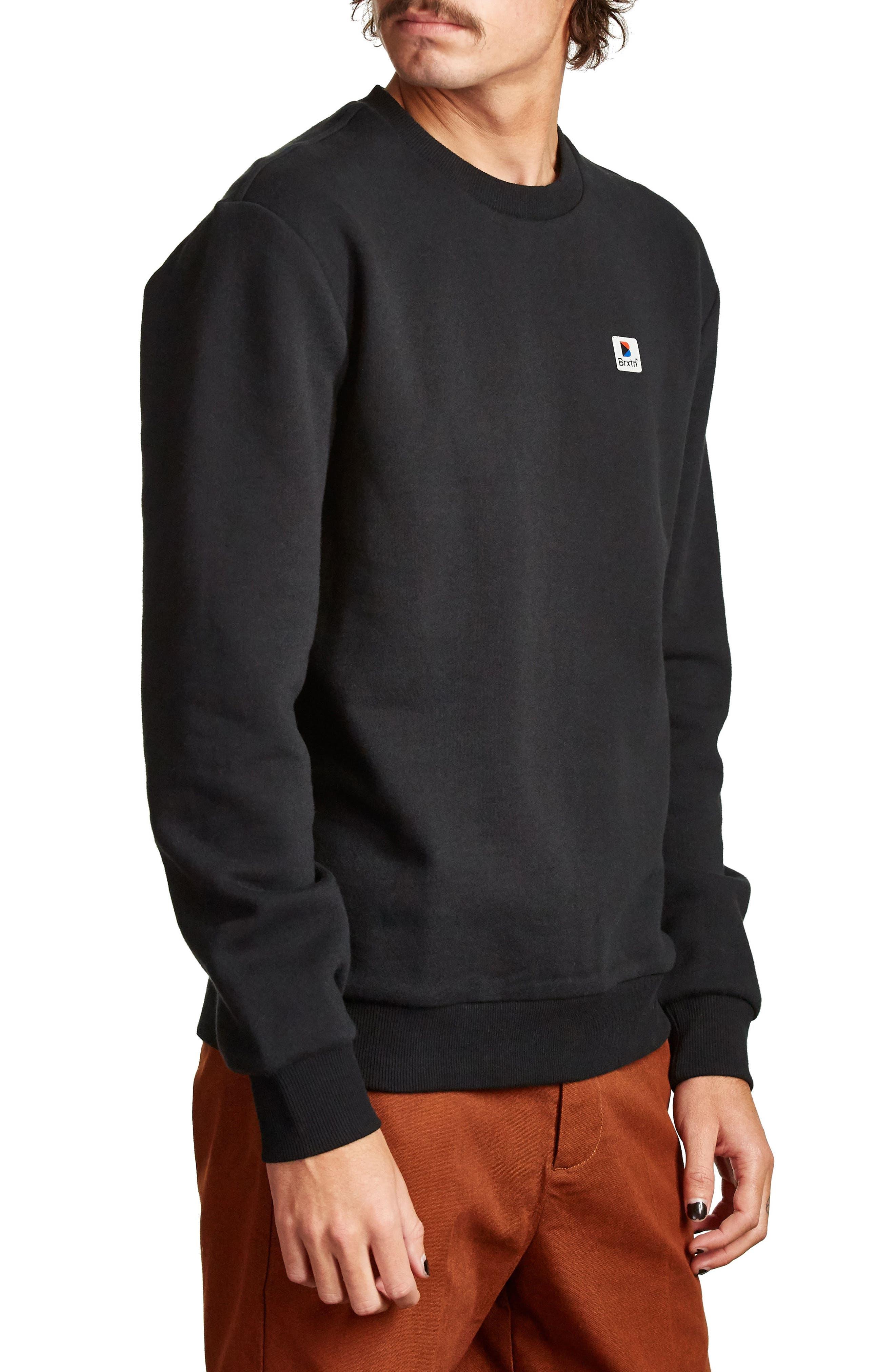 Stonewell Sweatshirt,                             Alternate thumbnail 3, color,                             Black