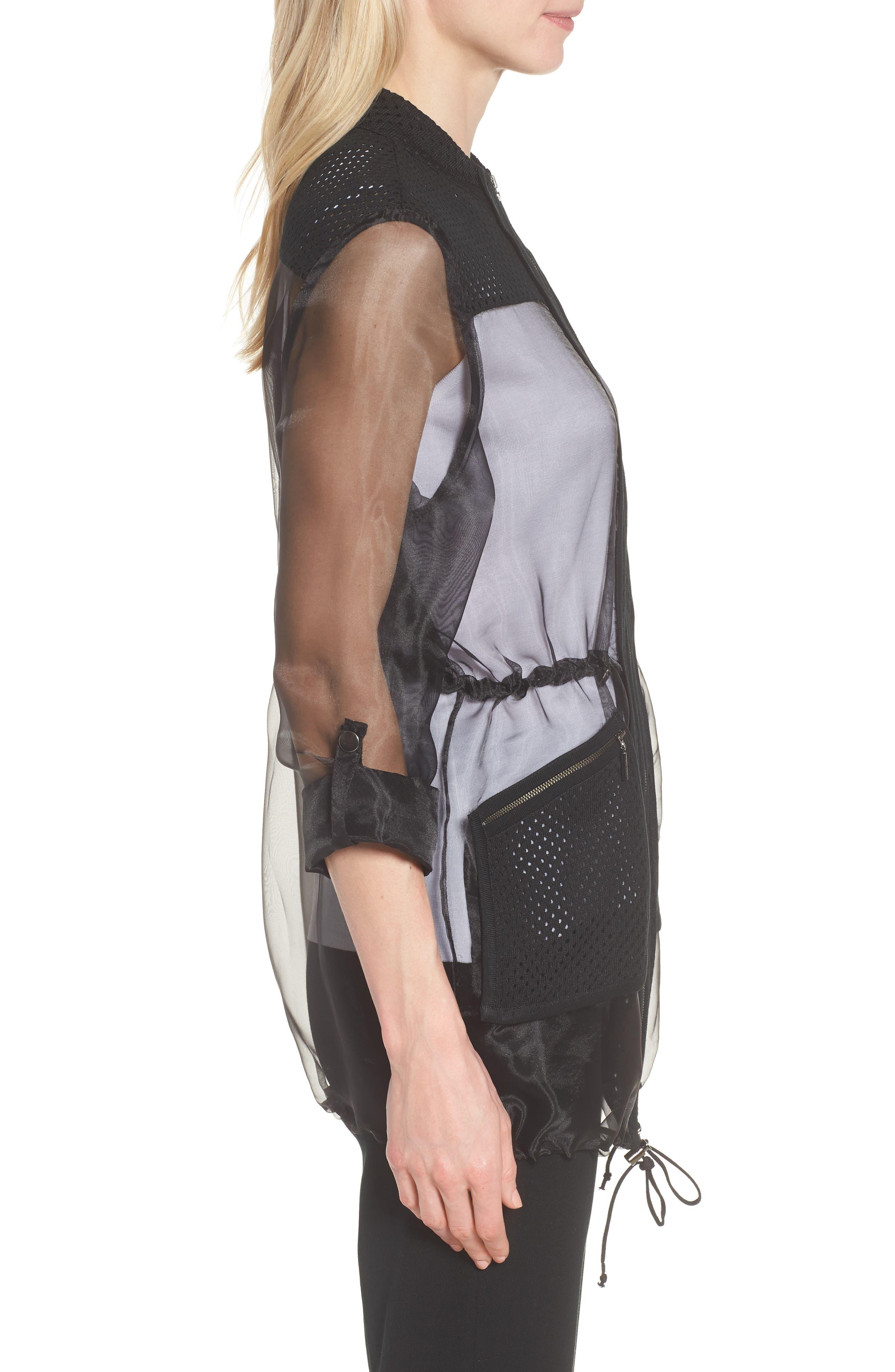 Sheer Jacket,                             Alternate thumbnail 3, color,                             Black