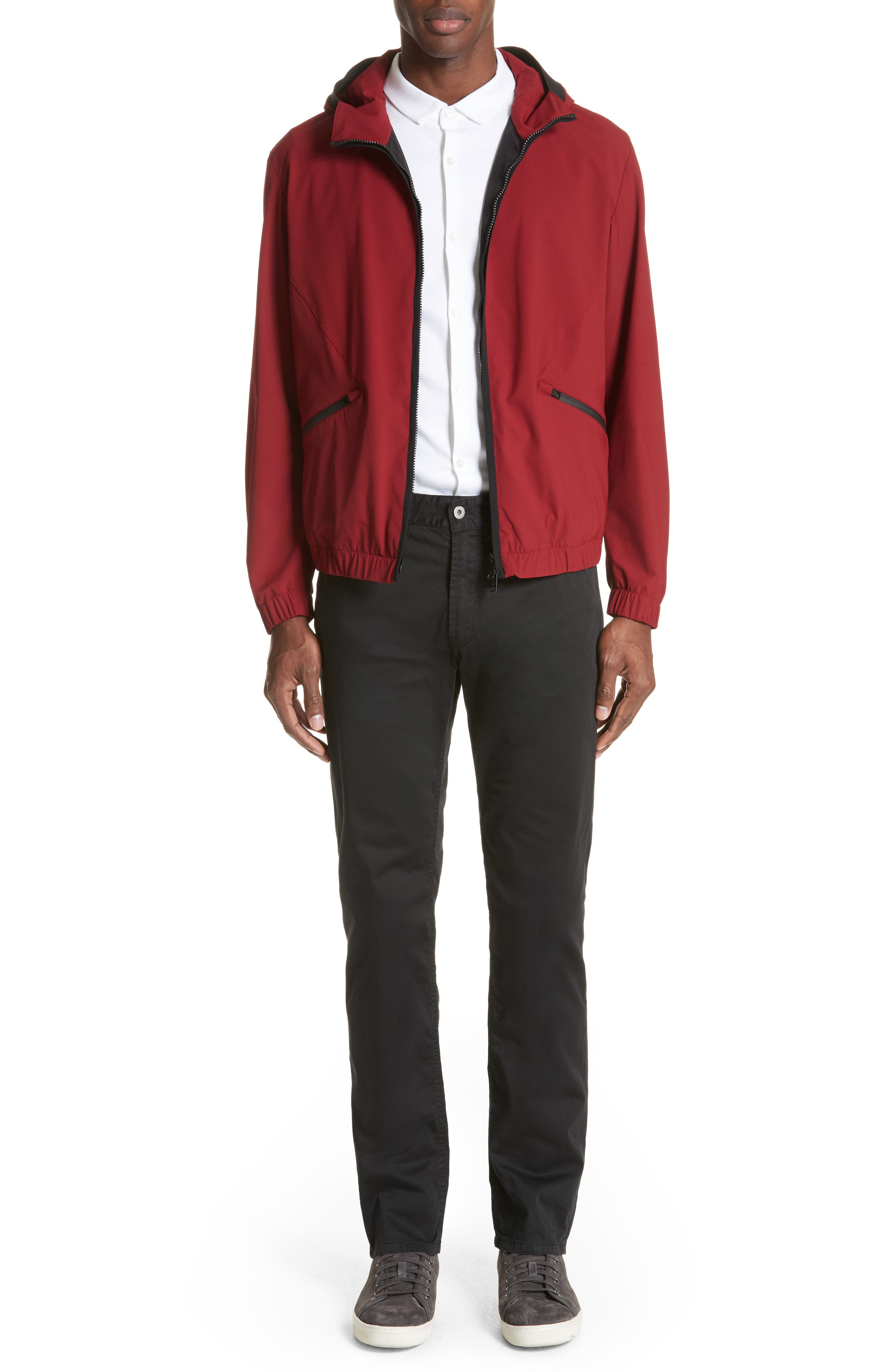 Water Repellent Jacket,                             Alternate thumbnail 7, color,                             Red
