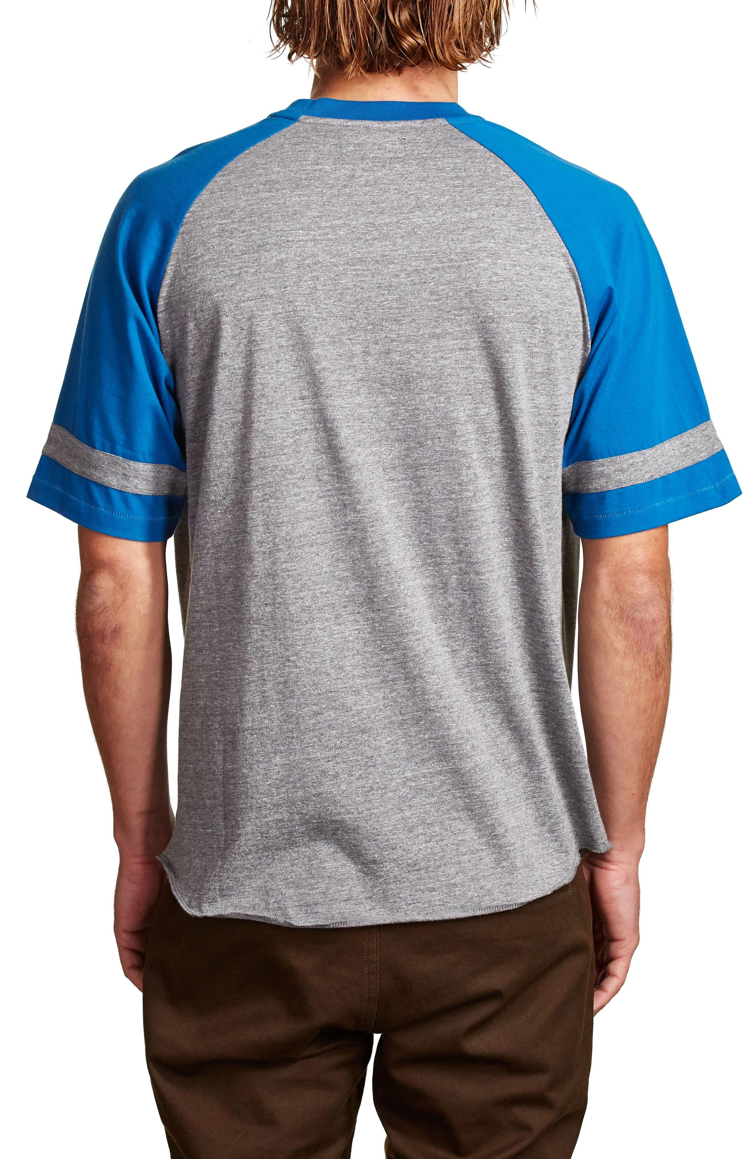 Rockford Baseball T-Shirt,                             Alternate thumbnail 2, color,                             Heather Grey/ Royal