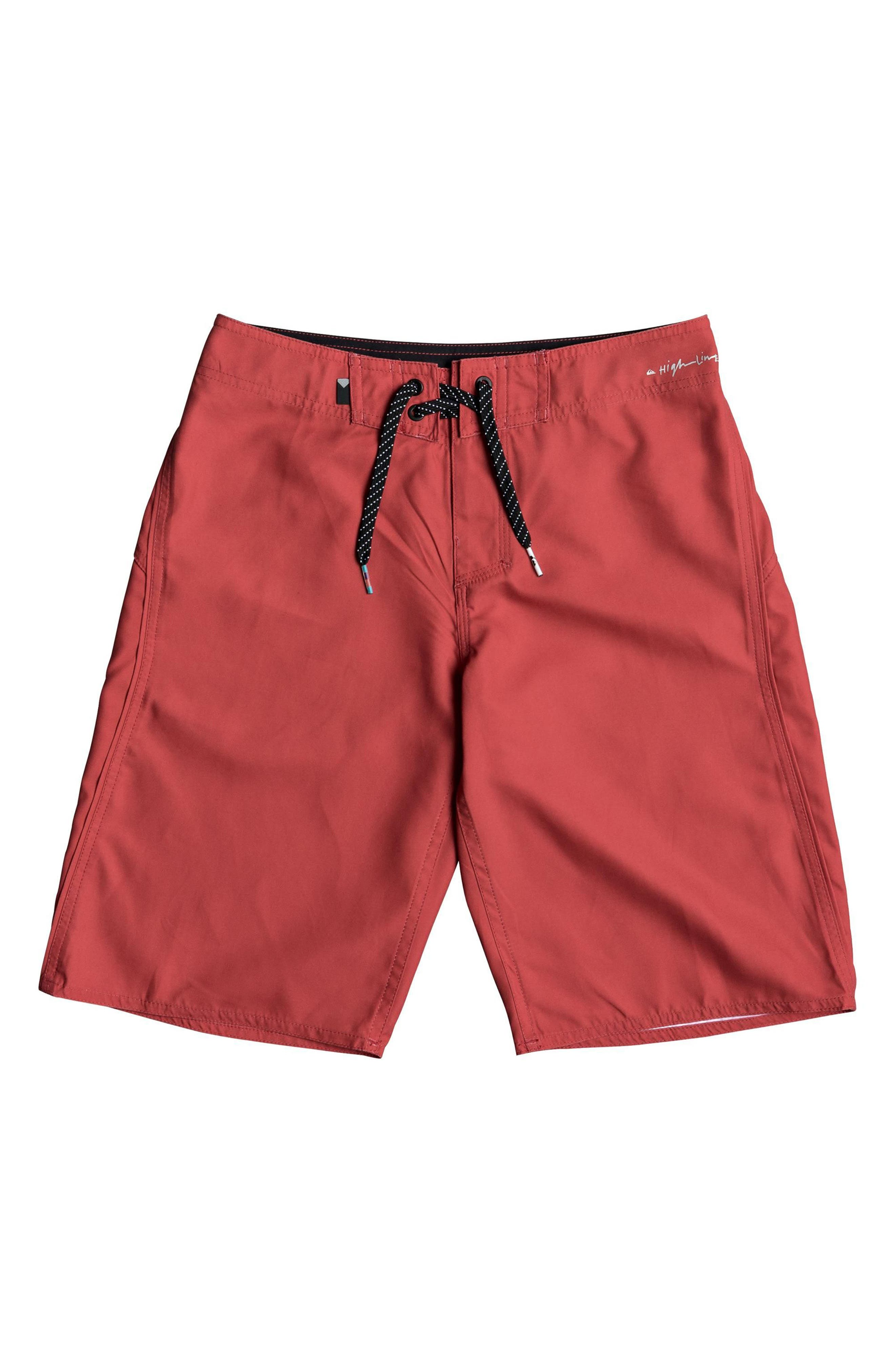 Highline Kaimana Board Shorts,                         Main,                         color, Red