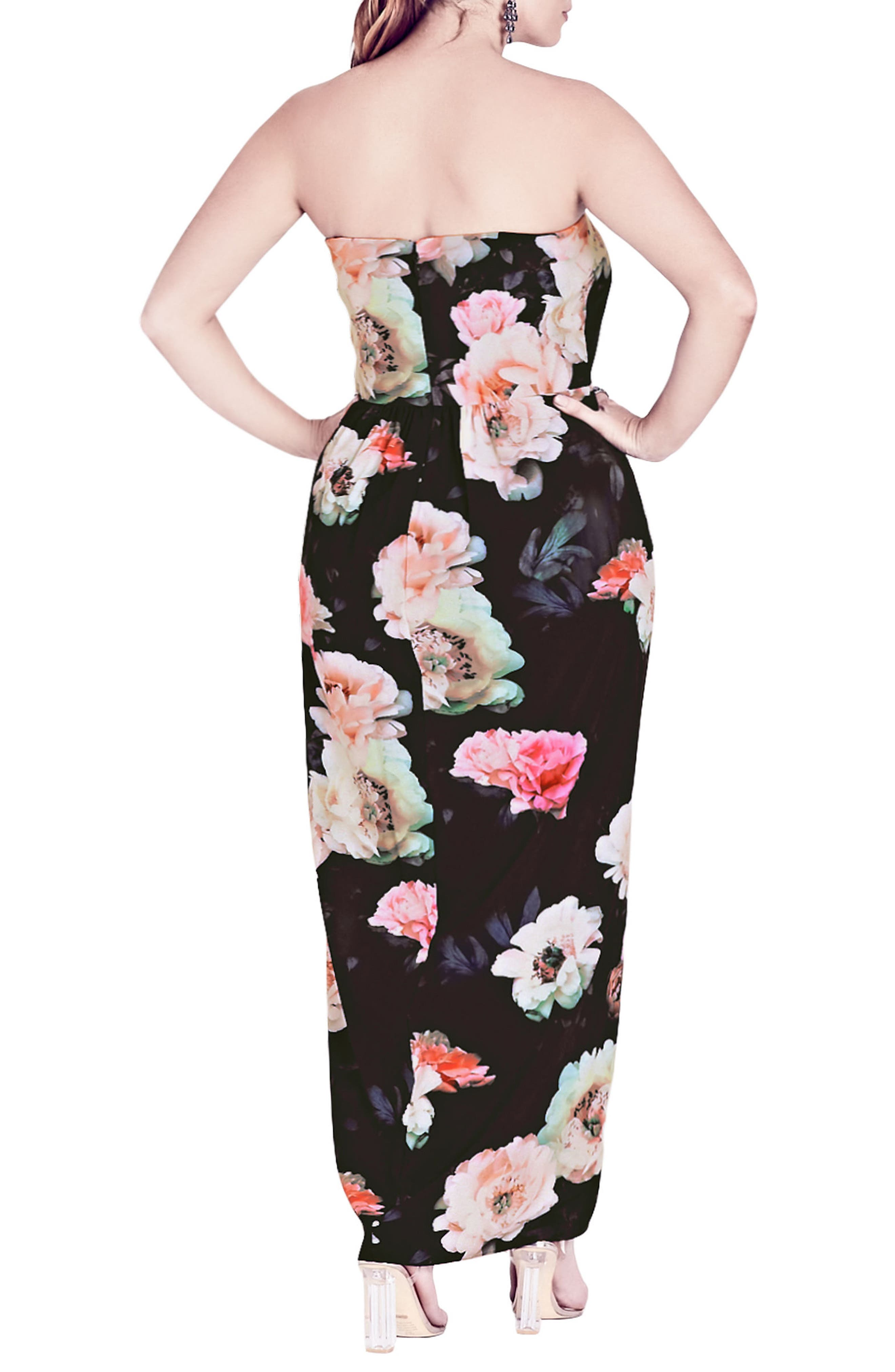 Wonderland Floral Maxi Dress,                             Alternate thumbnail 3, color,                             Pink Floral