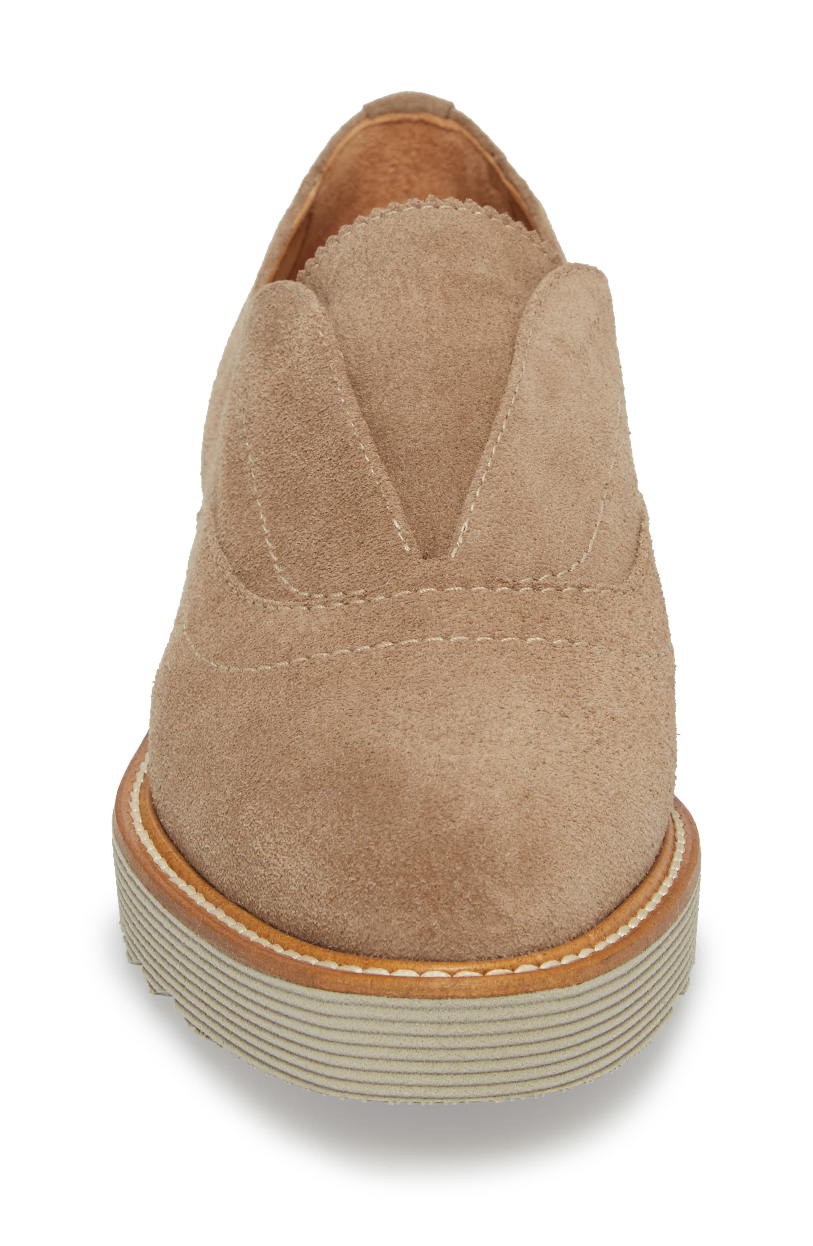 Kaleigh Weatherproof Loafer,                             Alternate thumbnail 4, color,                             Taupe